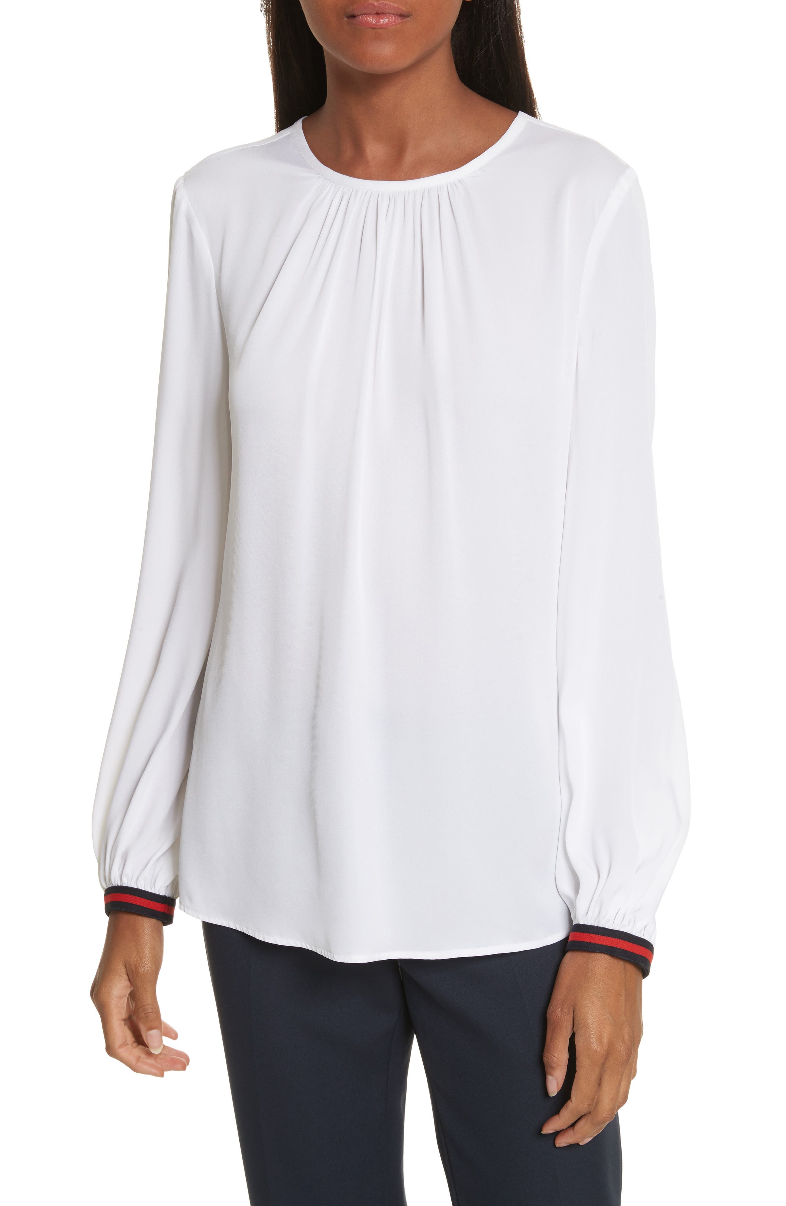 Main Image - Milly Mandy Stretch Silk Top