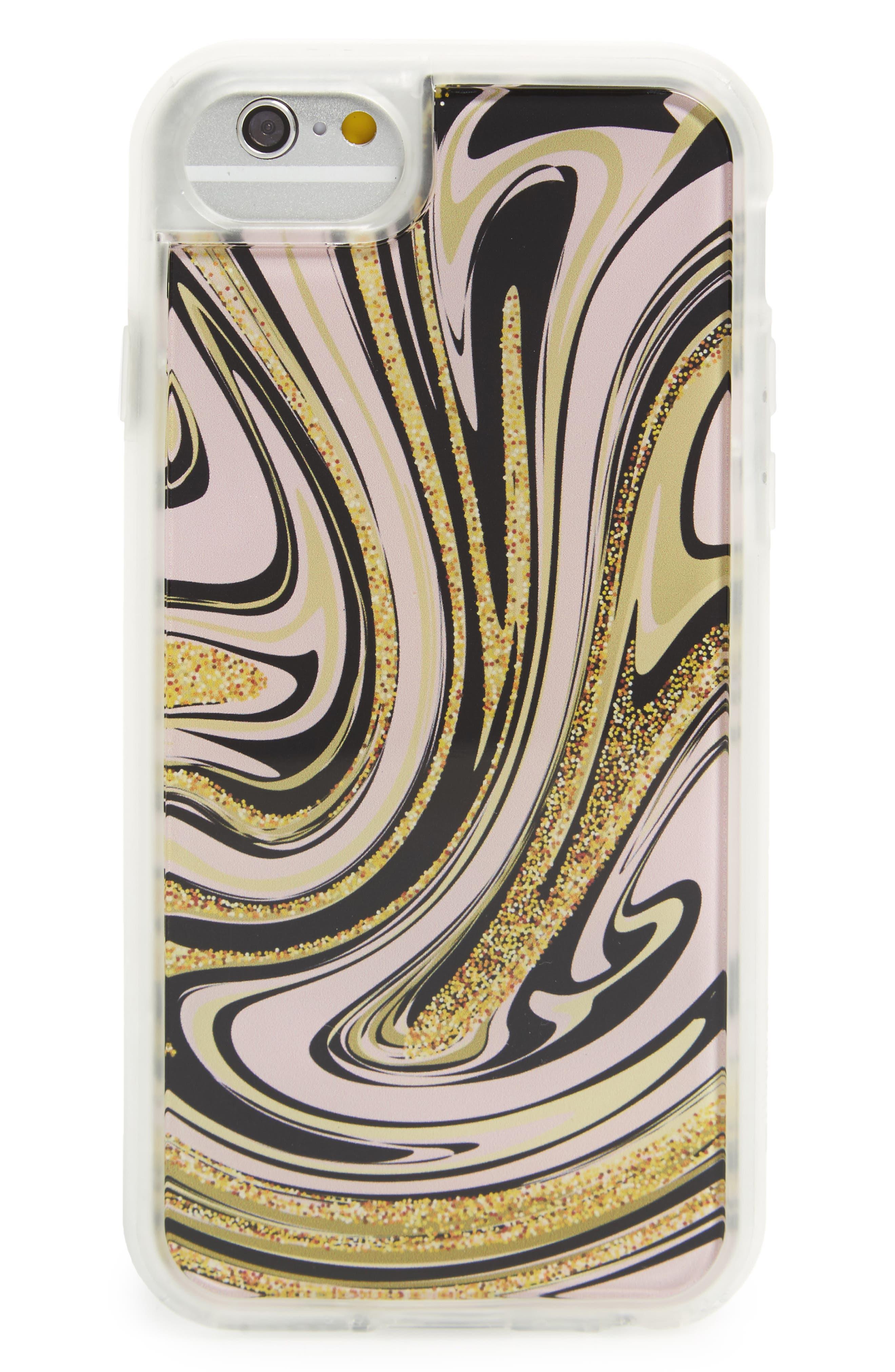 Liquid Marble iPhone 6/6s/7 Case,                             Main thumbnail 1, color,                             Clear / Multi