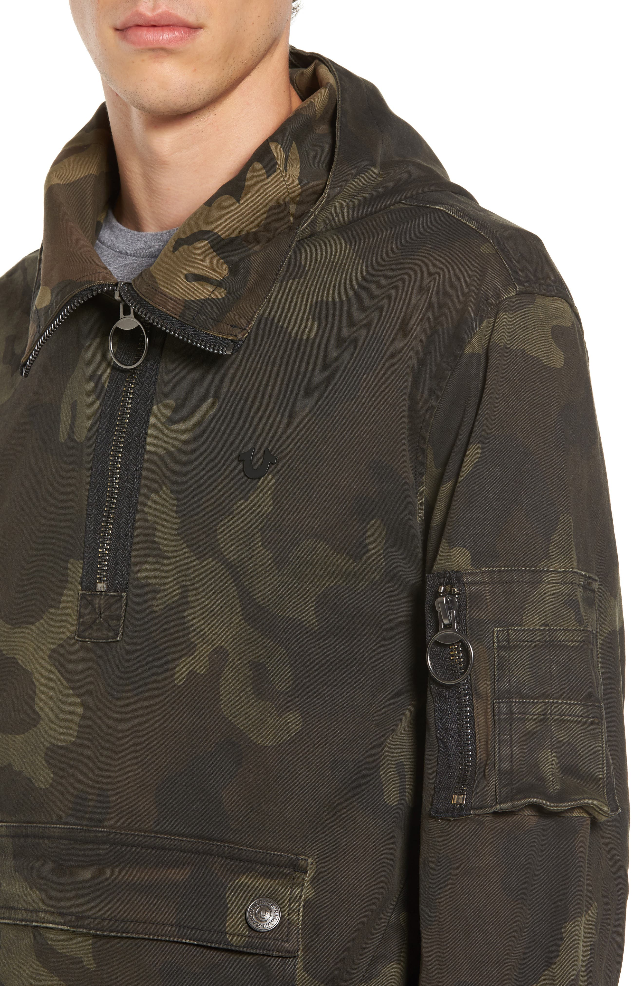 Camo Anorak,                             Alternate thumbnail 4, color,                             Military Green Camo