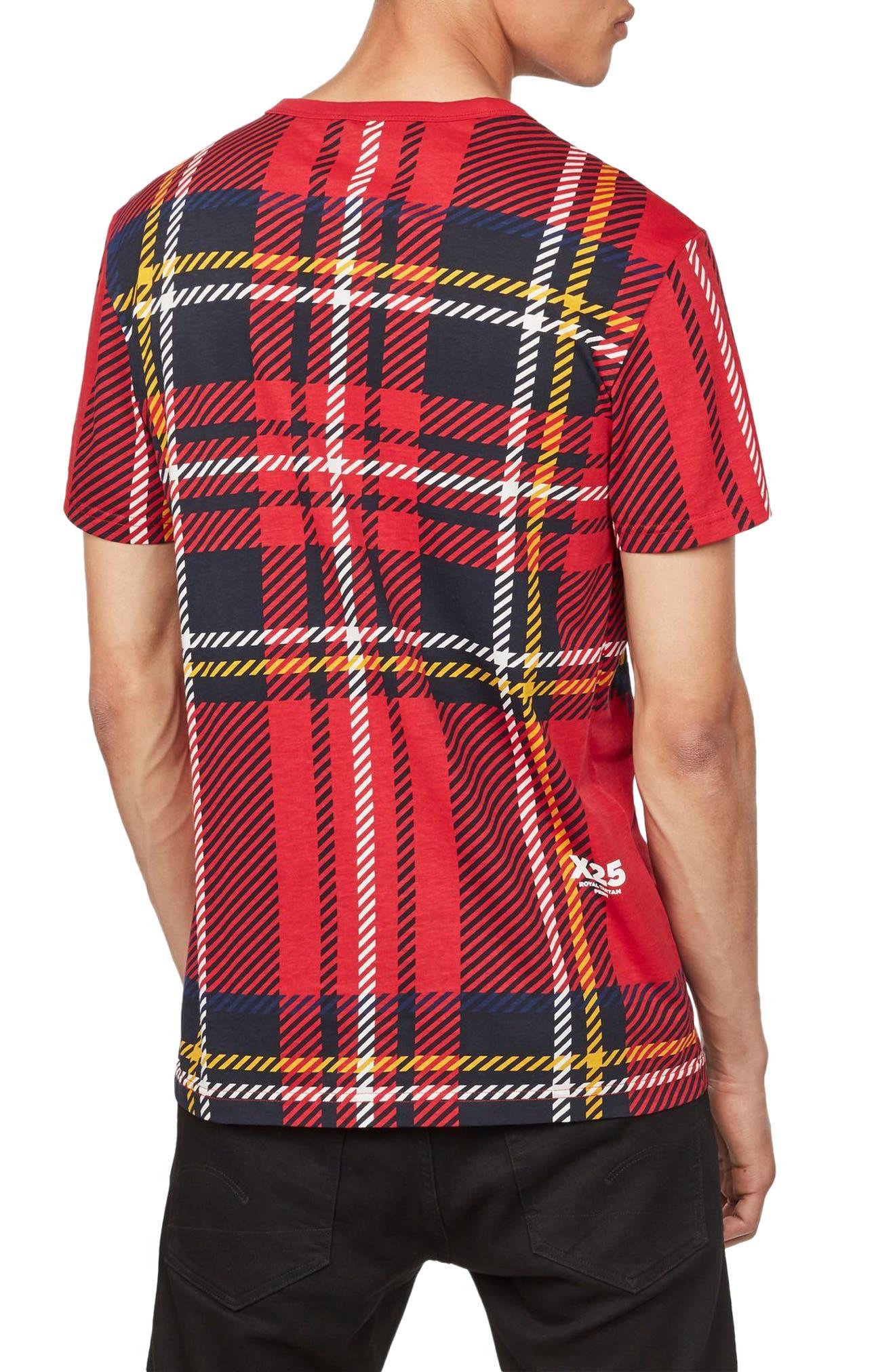 Alternate Image 2  - G-Star Raw Royal Tartan Graphic T-Shirt