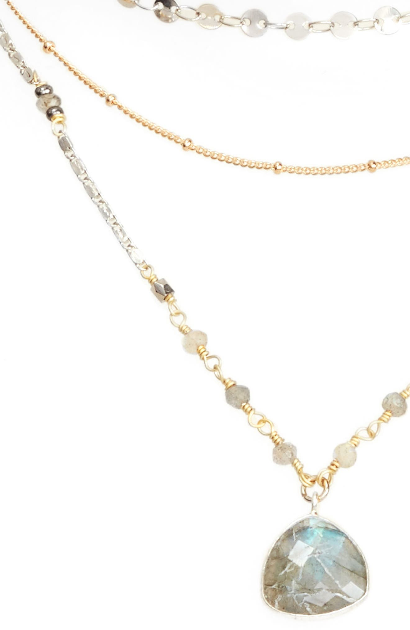 Multistrand Necklace,                             Main thumbnail 1, color,                             Grey