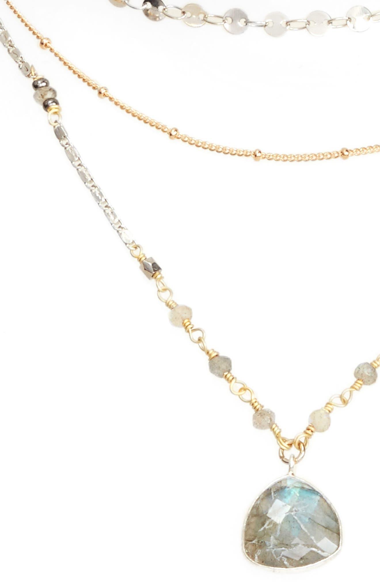 Multistrand Necklace,                         Main,                         color, Grey