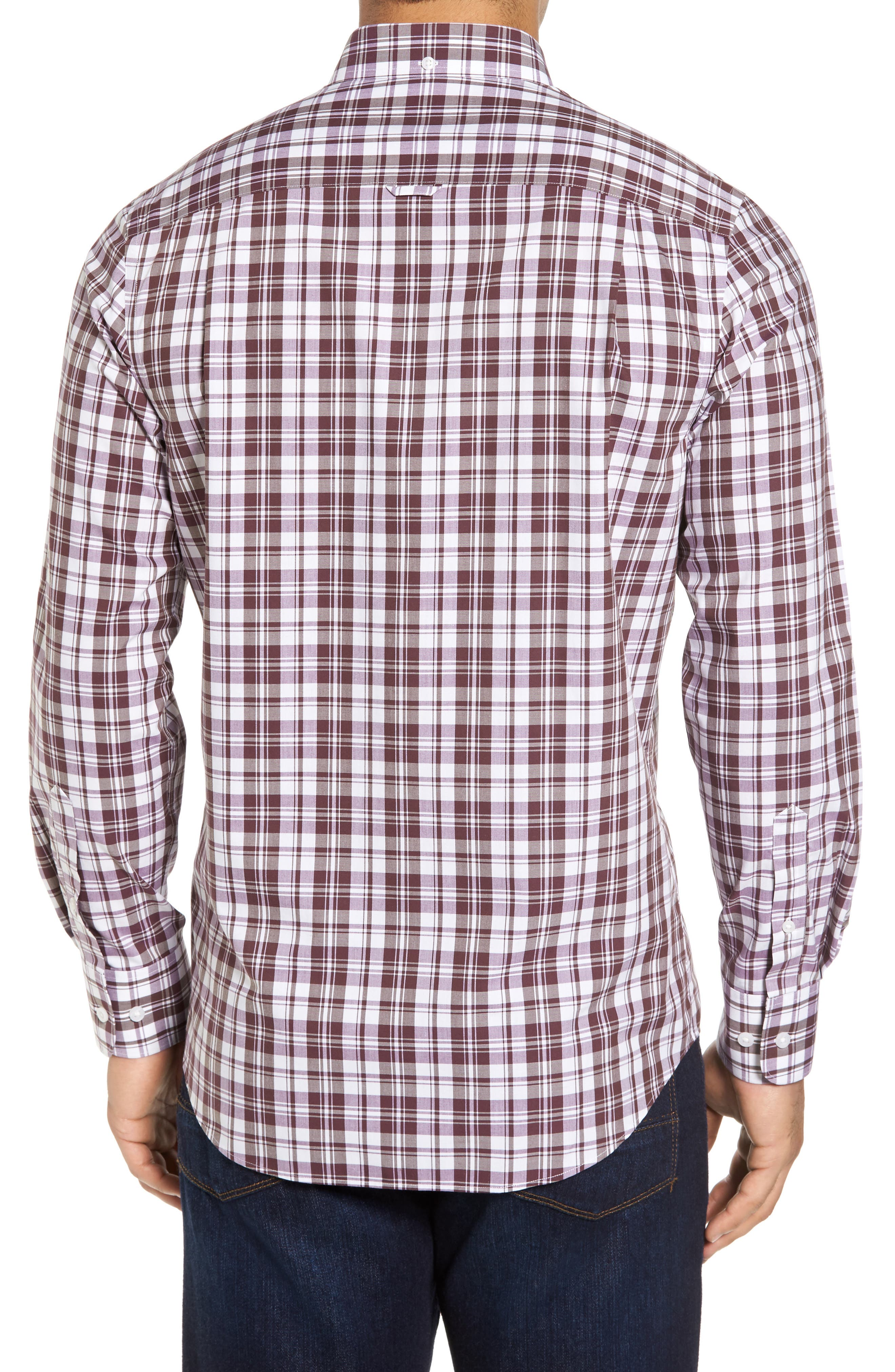 Alternate Image 2  - Nordstrom Men's Shop Smartcare™ Regular Fit Plaid Sport Shirt