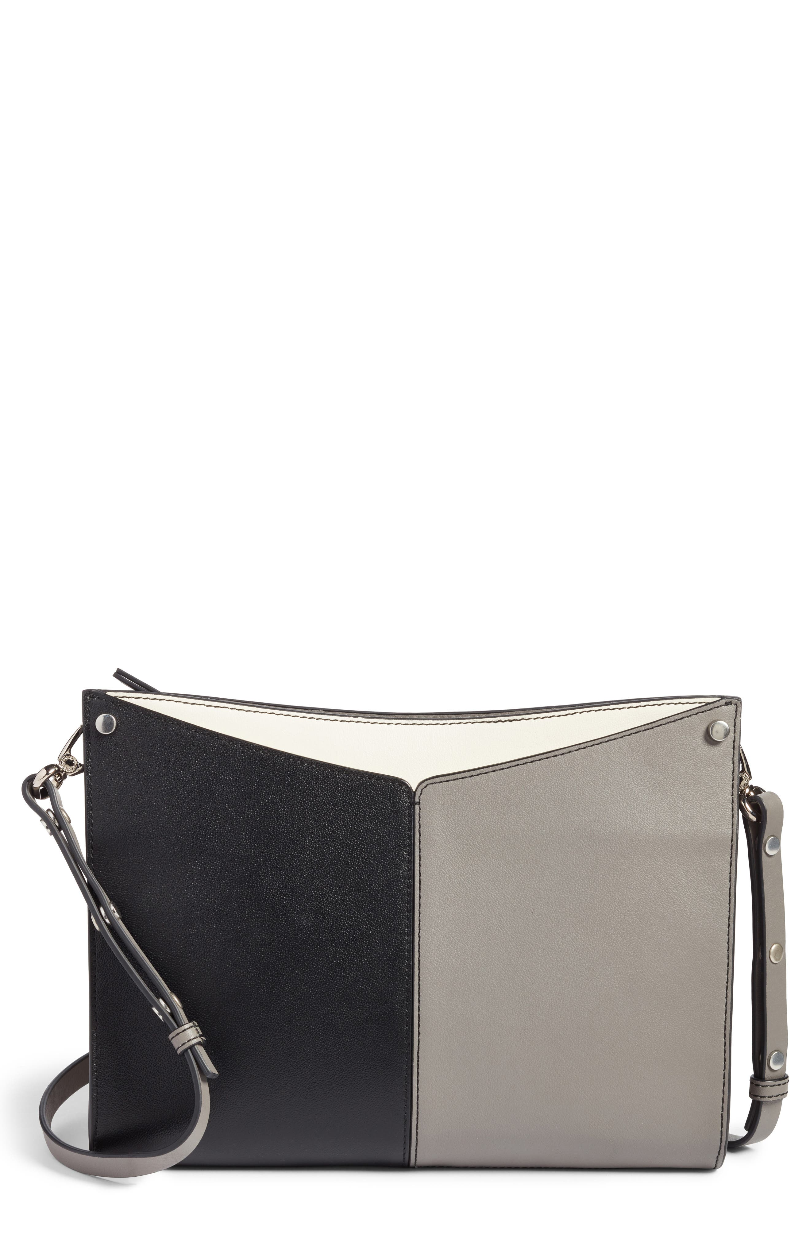 Harrison Leather Shoulder Bag,                         Main,                         color, Black Multi