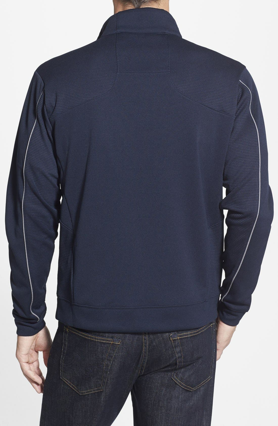 Alternate Image 2  - Cutter & Buck Buffalo Bills - Edge DryTec Moisture Wicking Half Zip Pullover
