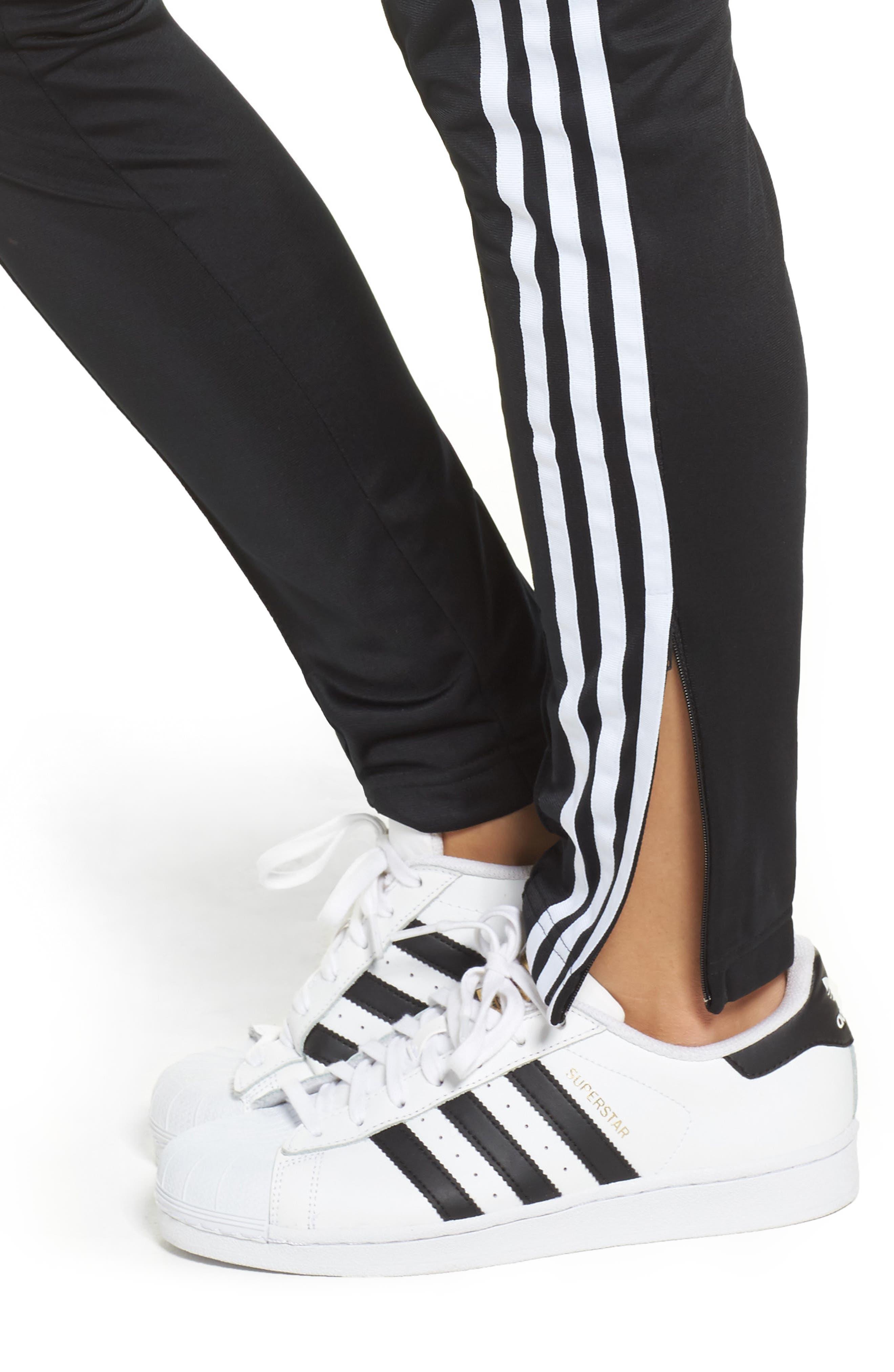 Originals Superstar Track Pants,                             Alternate thumbnail 4, color,                             Black