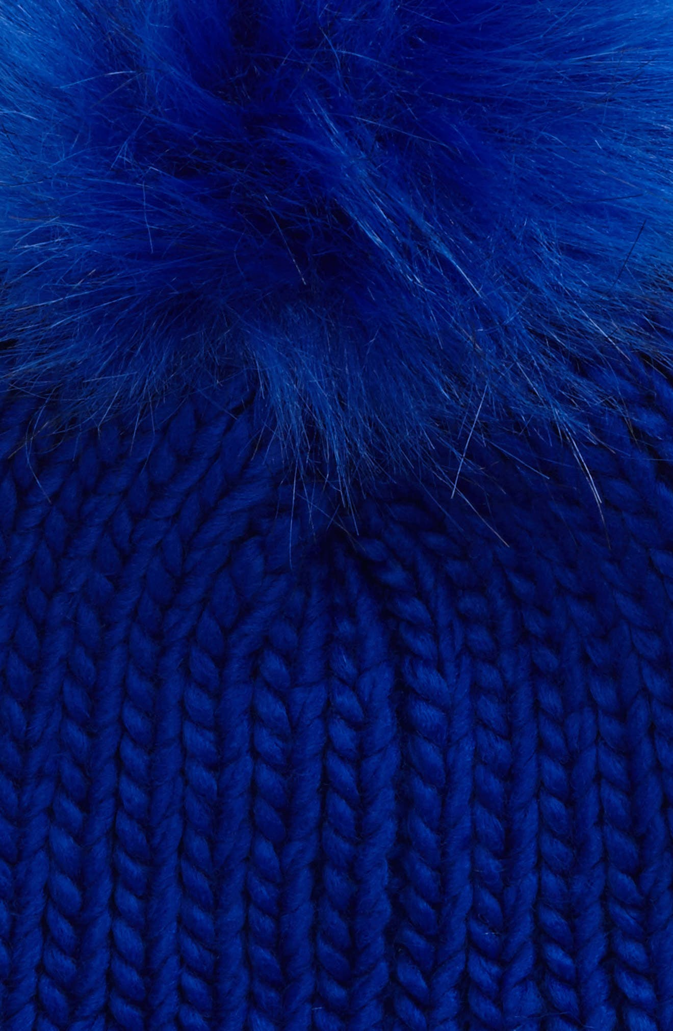 Alternate Image 2  - David & Young Faux Fur Pom Chunky Beanie