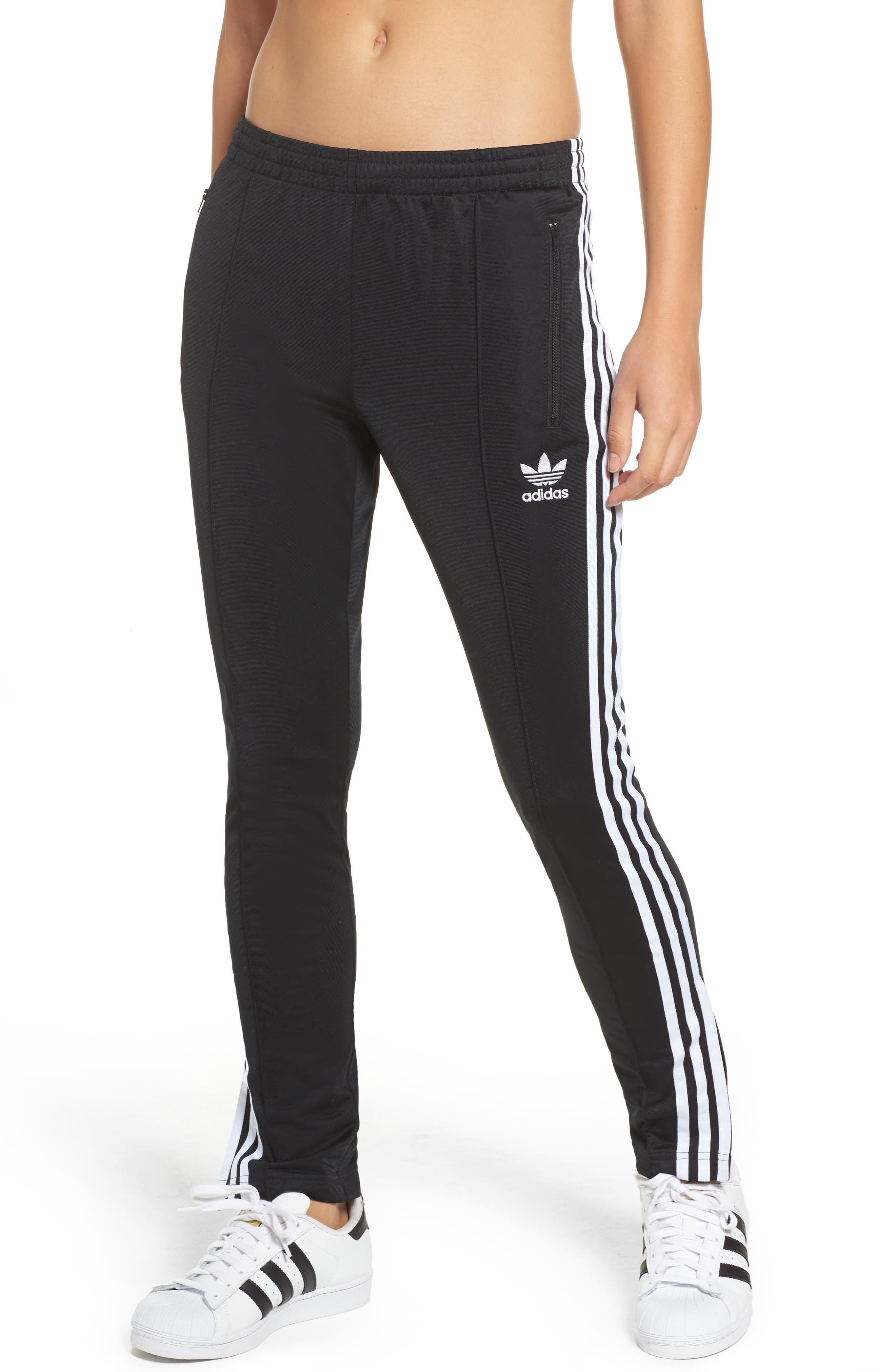 Originals Superstar Track Pants,                             Main thumbnail 1, color,                             Black