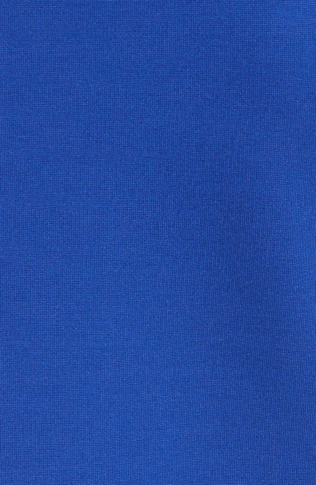 Codi Embroidered Scallop A-Line Dress,                             Alternate thumbnail 5, color,                             Mid Blue
