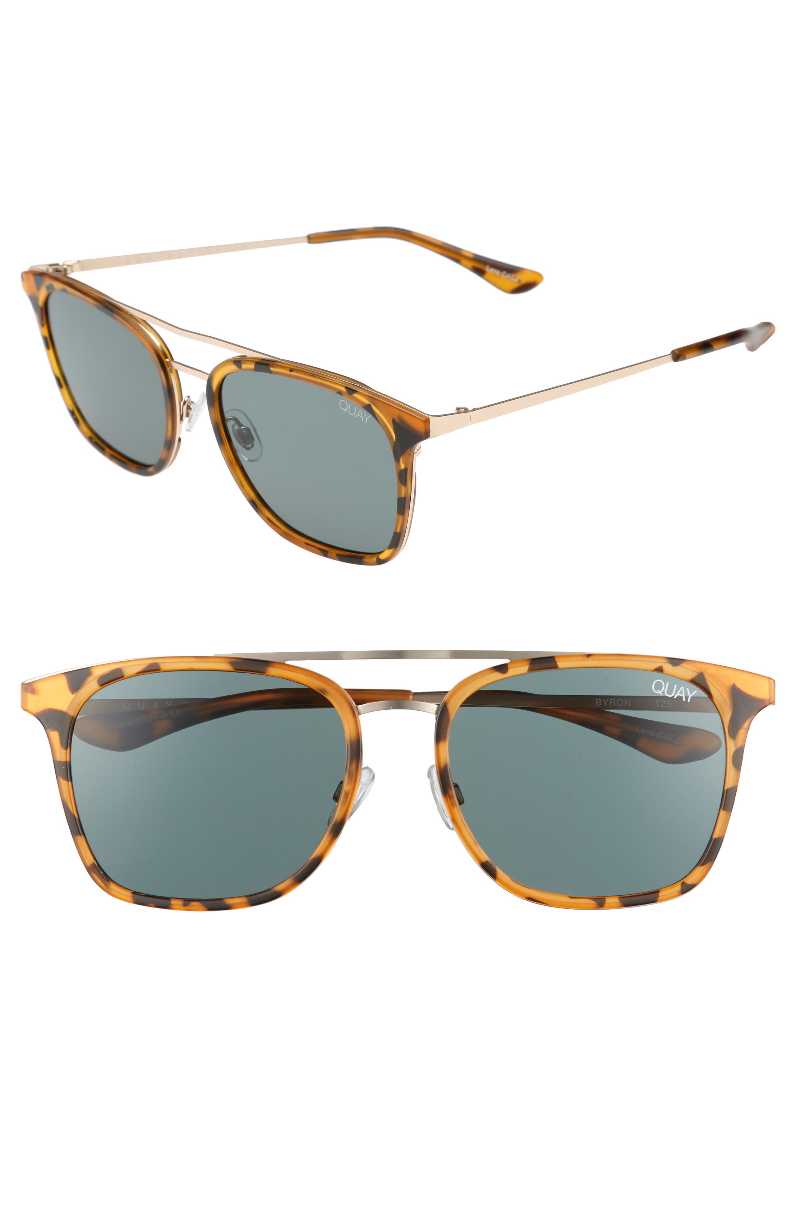 Byron 50mm Sunglasses,                             Main thumbnail 1, color,                             Tortoise/ Green