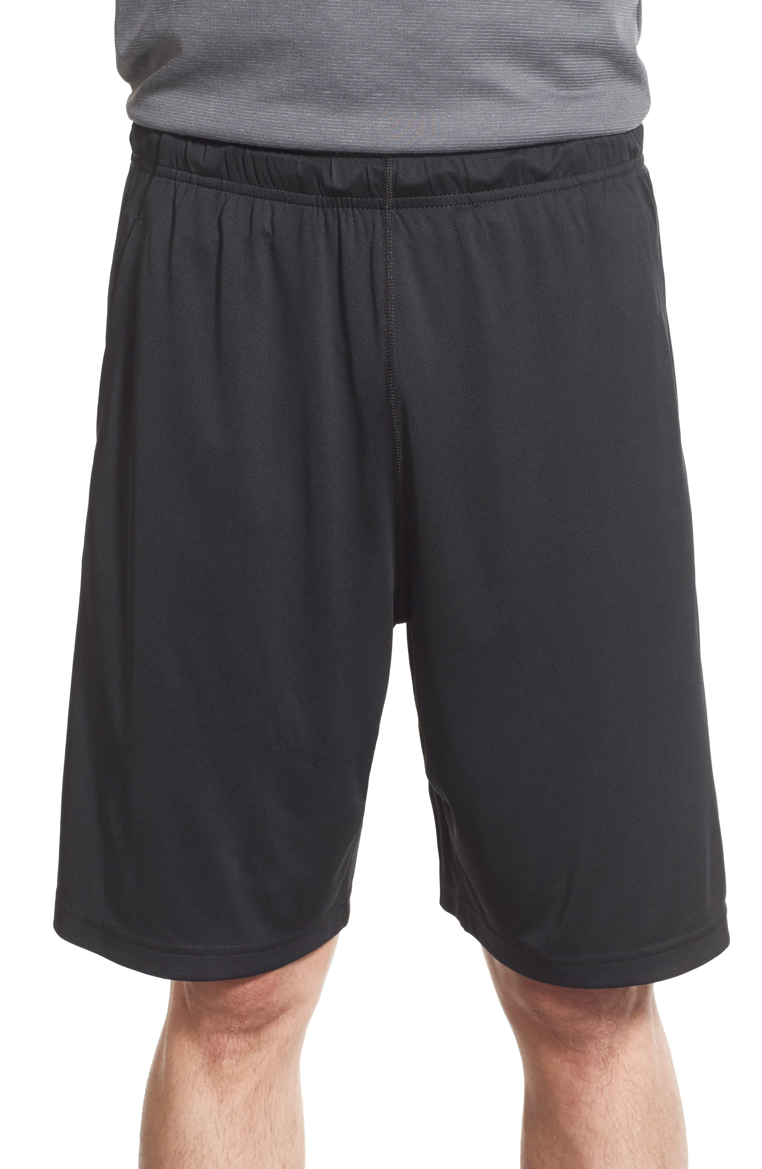 Fly Athletic Shorts,                         Main,                         color, Black/ D Grey