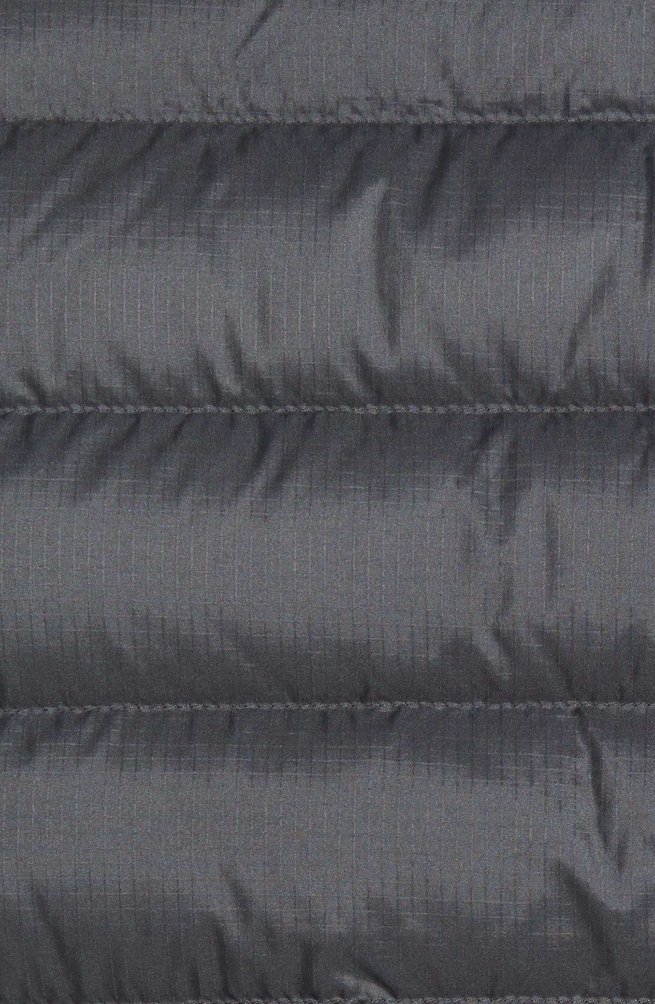 Windproof & Water Resistant 800 Fill Power Down Quilted Vest,                             Alternate thumbnail 5, color,                             Forge Grey W/ Forge Grey