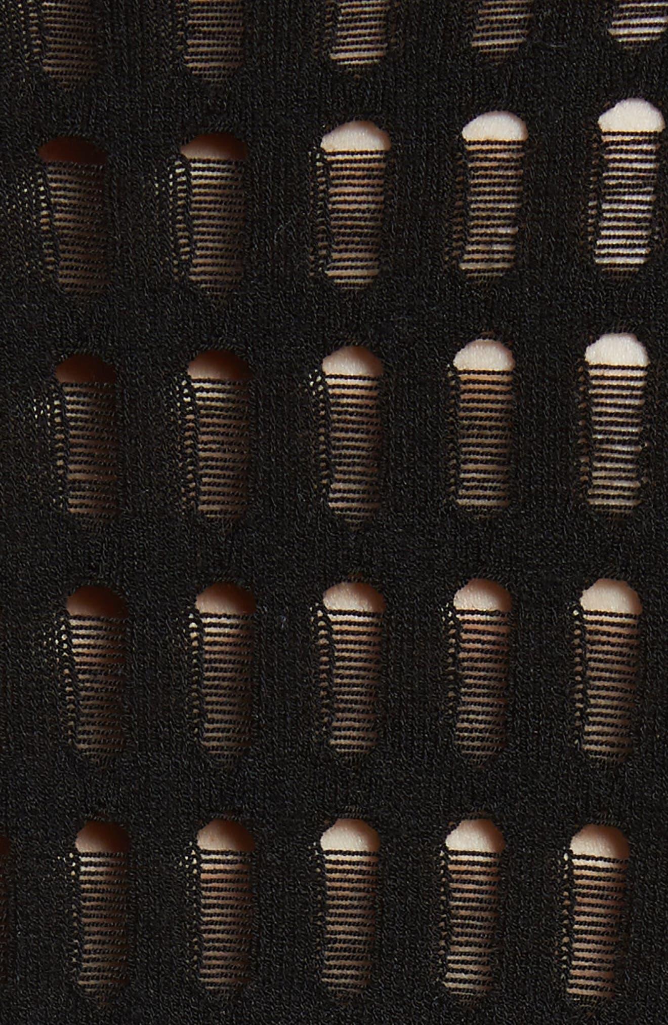 Float Stitch Lace Dress,                             Alternate thumbnail 5, color,                             Black