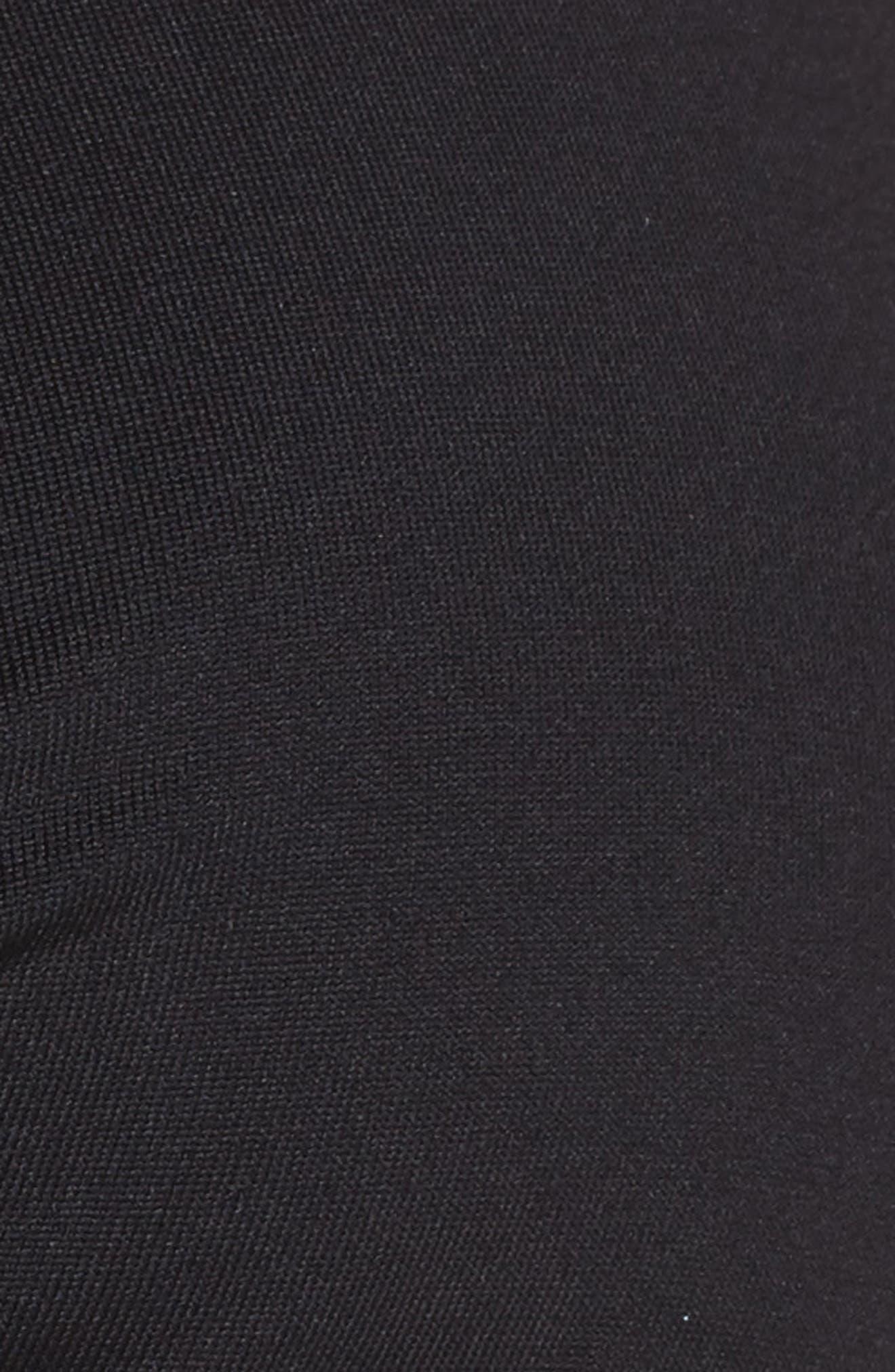 Twist D-Cup Underwire Halter Bikini Top,                             Alternate thumbnail 5, color,                             Black