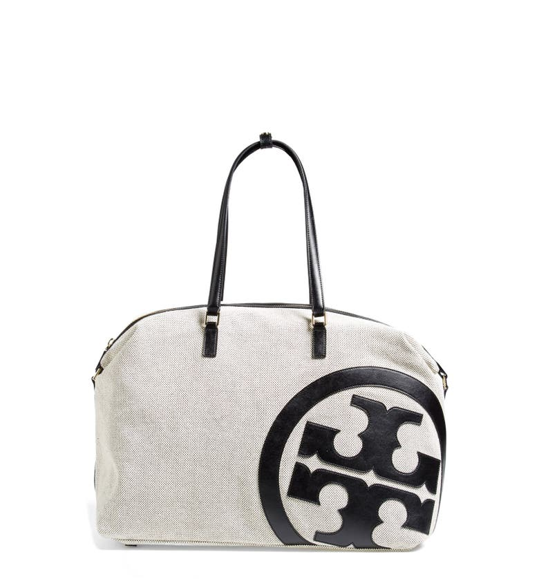 Lonnie Canvas Leather Logo Duffle Bag