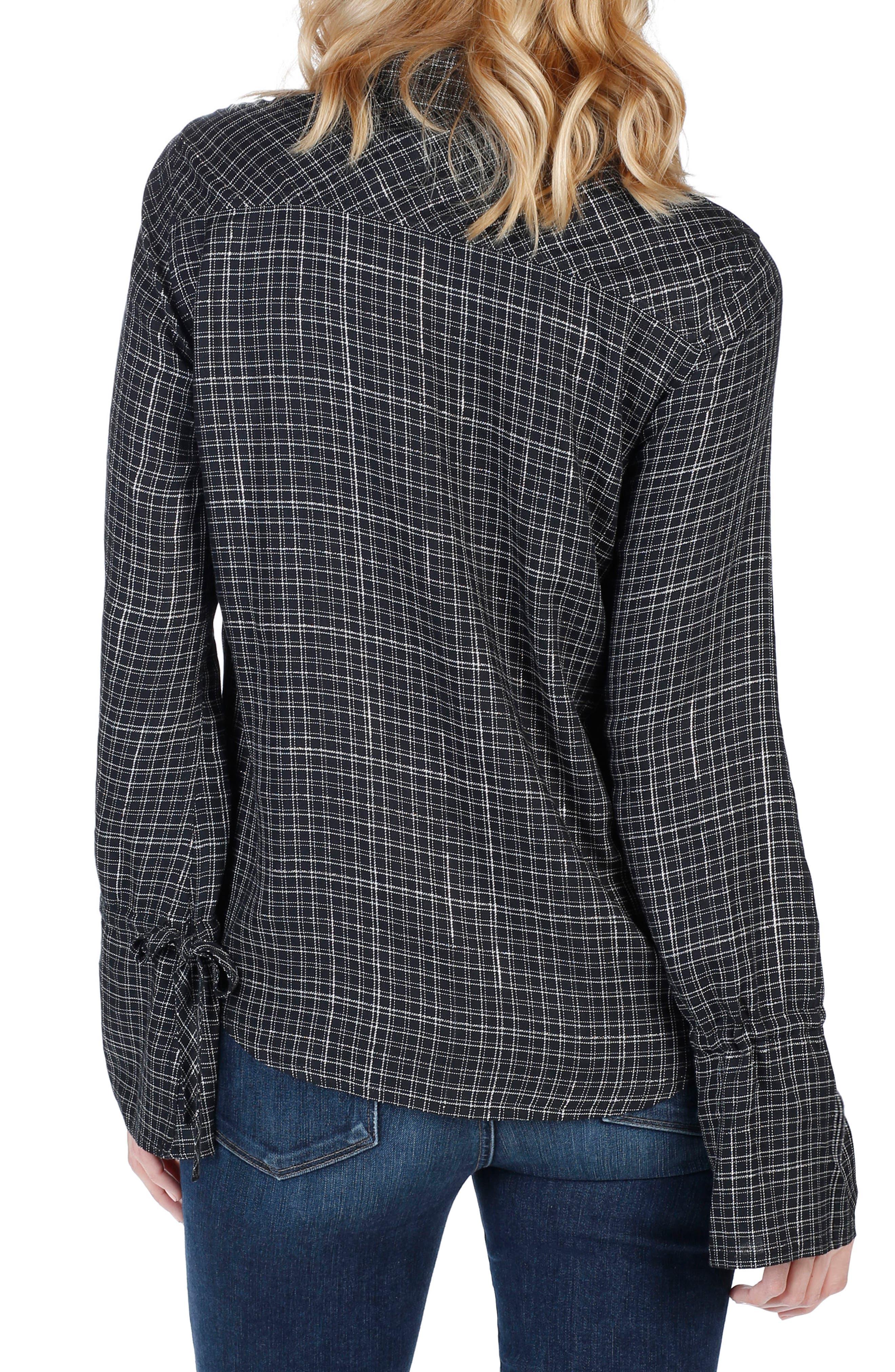 Calissa Shirt,                             Alternate thumbnail 2, color,                             Black Gunmetal Lurex