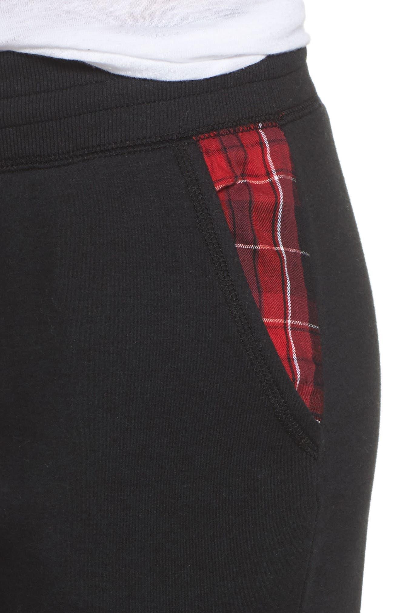 Lounge Jogger Pants,                             Alternate thumbnail 7, color,                             Black