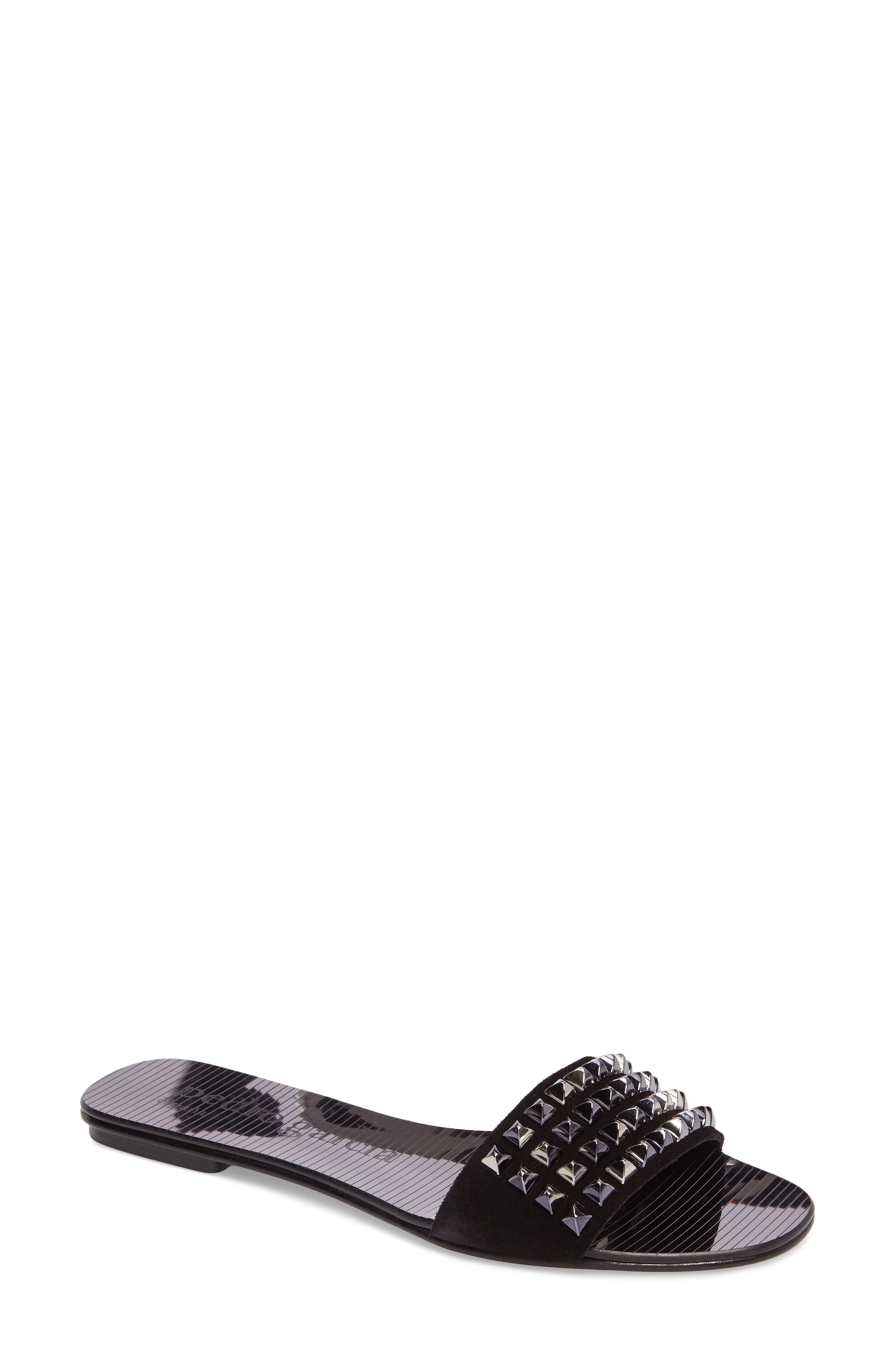 Alternate Image 1 Selected - Pedro Garcia Edge Studded Slide Sandal (Women)