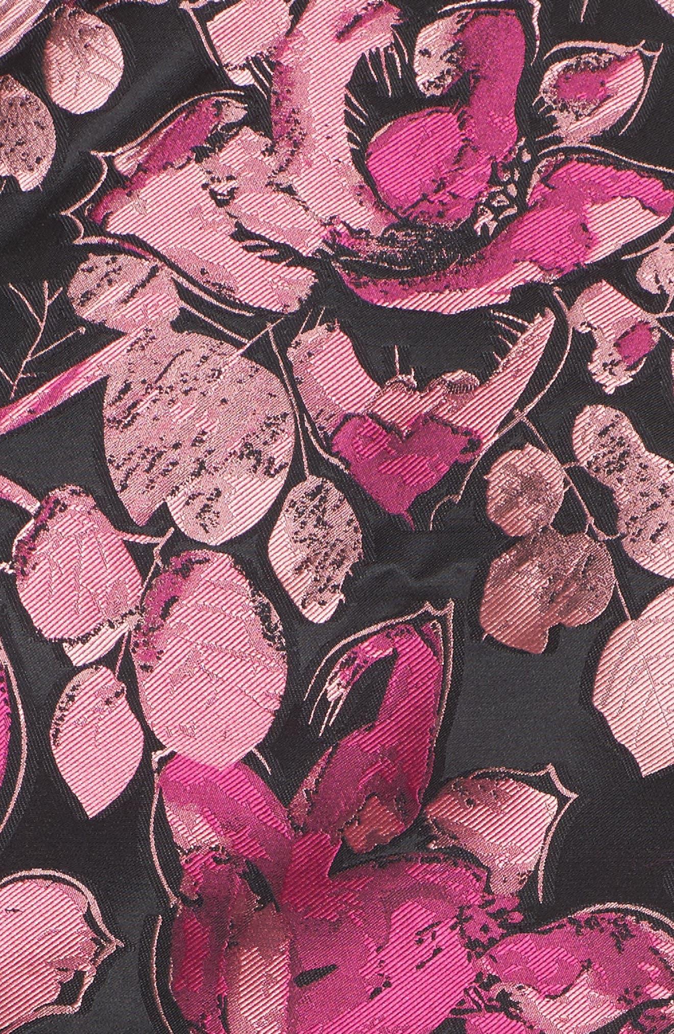 Alternate Image 5  - Eliza J Floral Halter Fit & Flare Dress (Regular & Petite)