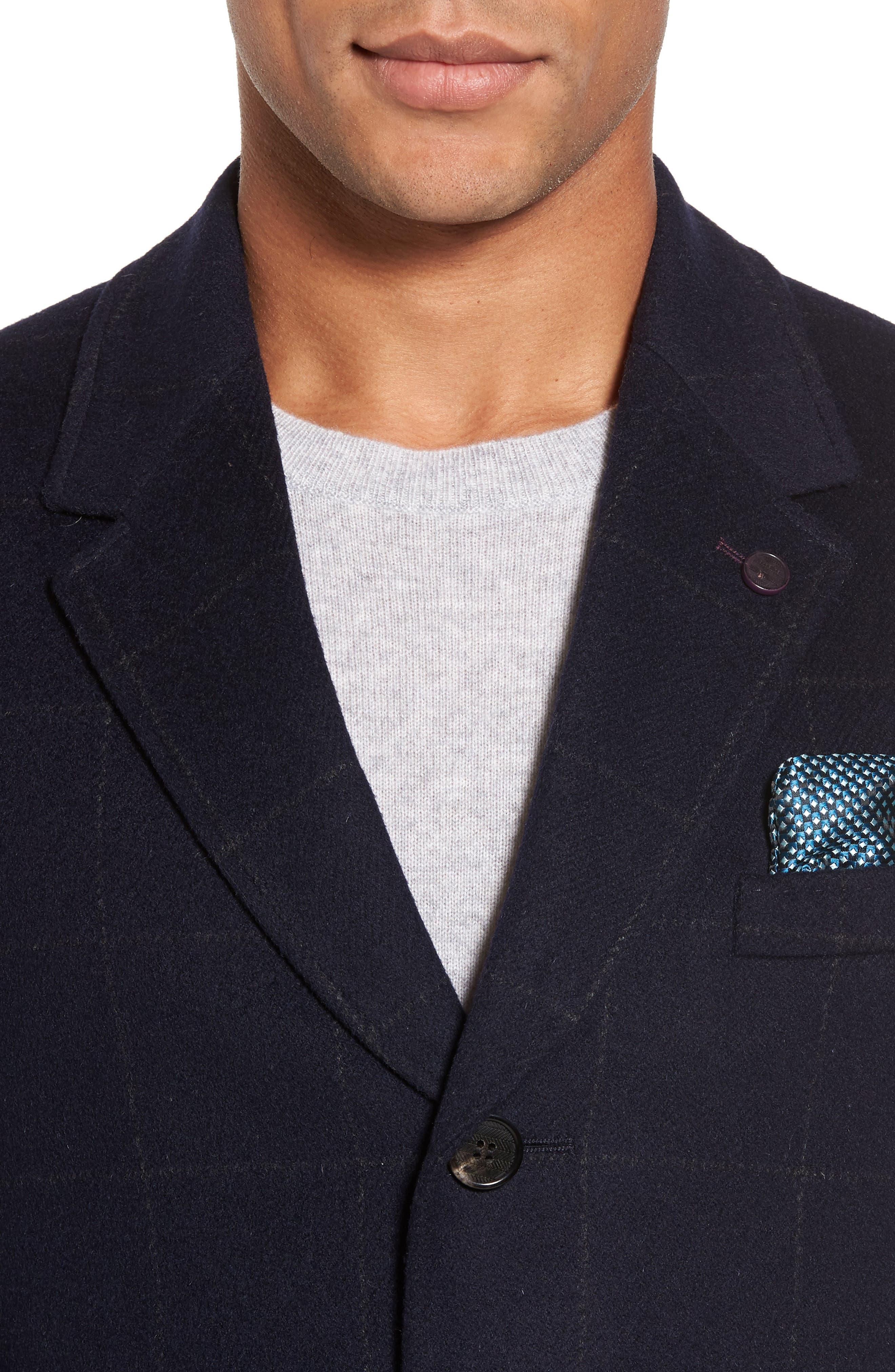 Alternate Image 4  - Ted Baker London Endurance Wool Blend Overcoat