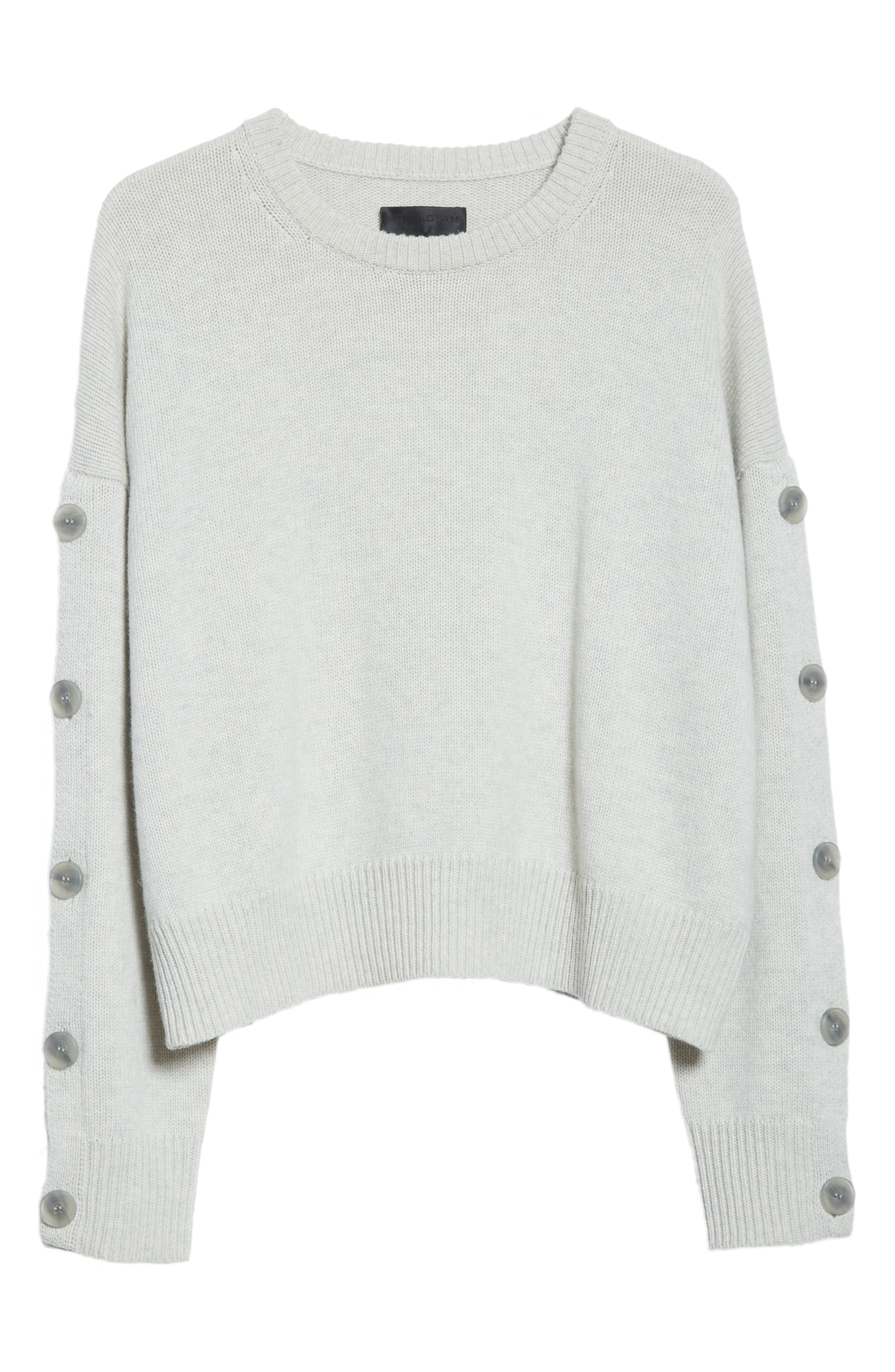 Martina Wool & Cashmere Sweater,                             Alternate thumbnail 6, color,                             Light Grey