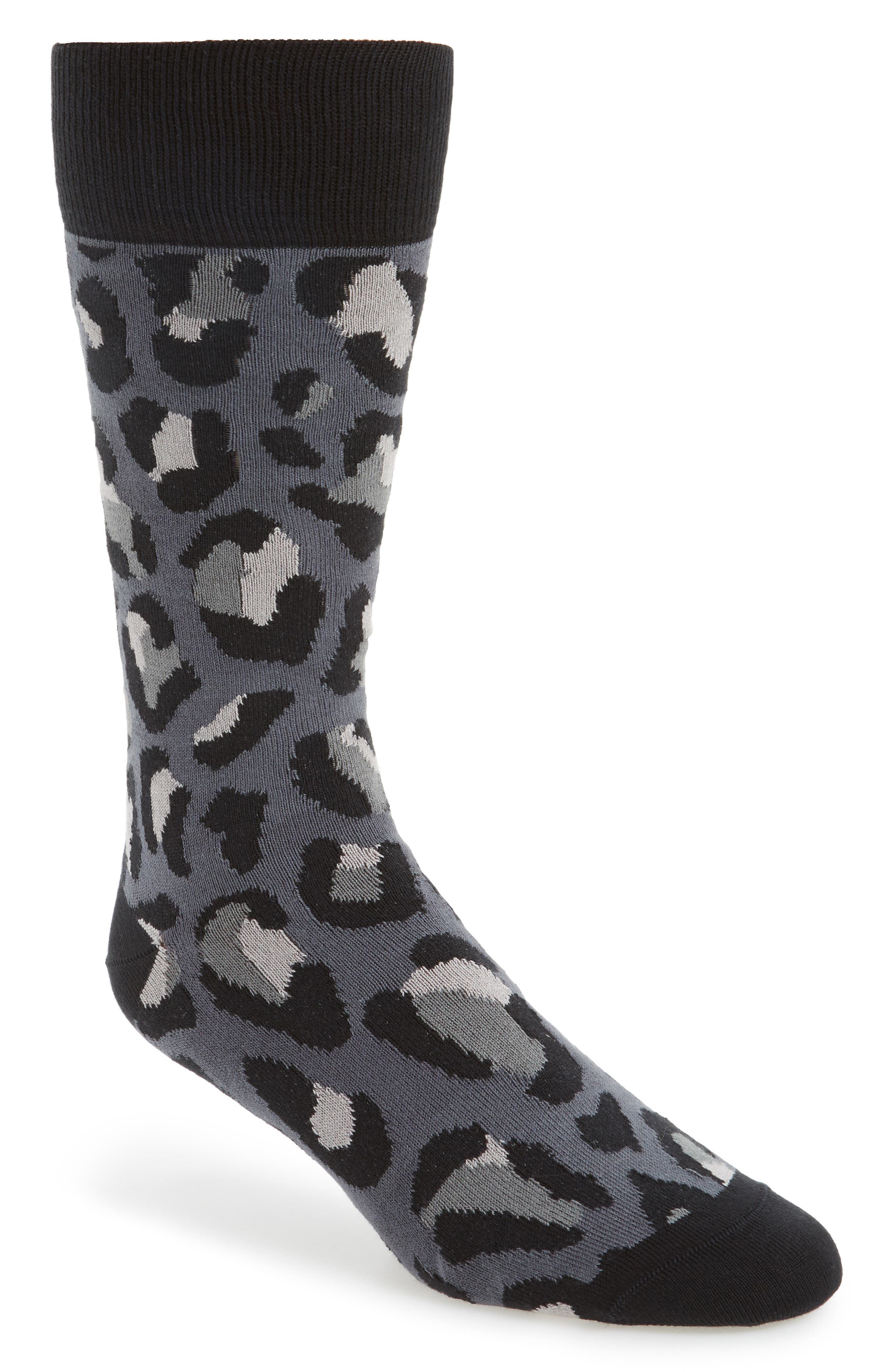 Camo Socks,                             Main thumbnail 1, color,                             Black
