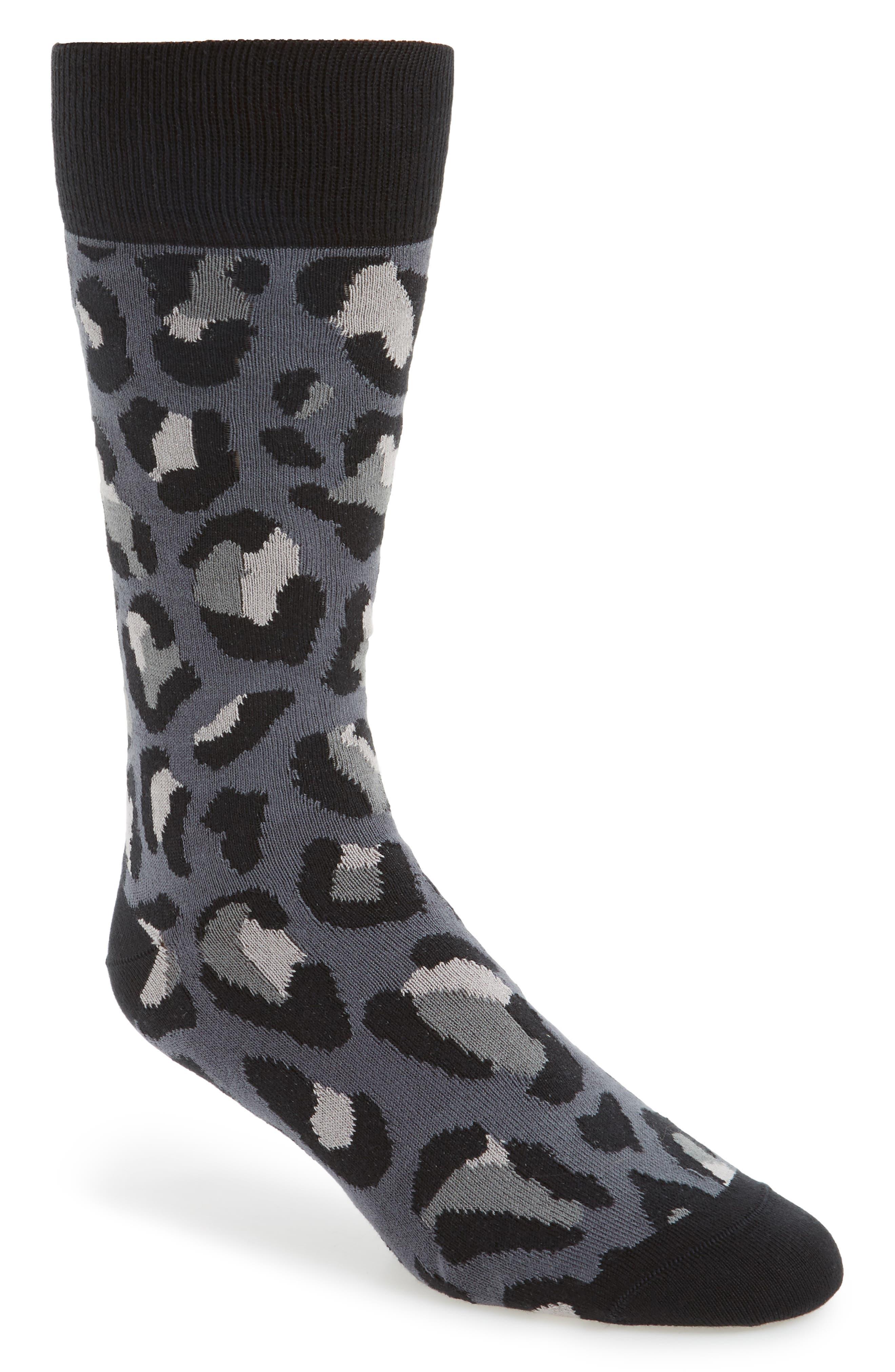 Camo Socks,                         Main,                         color, Black