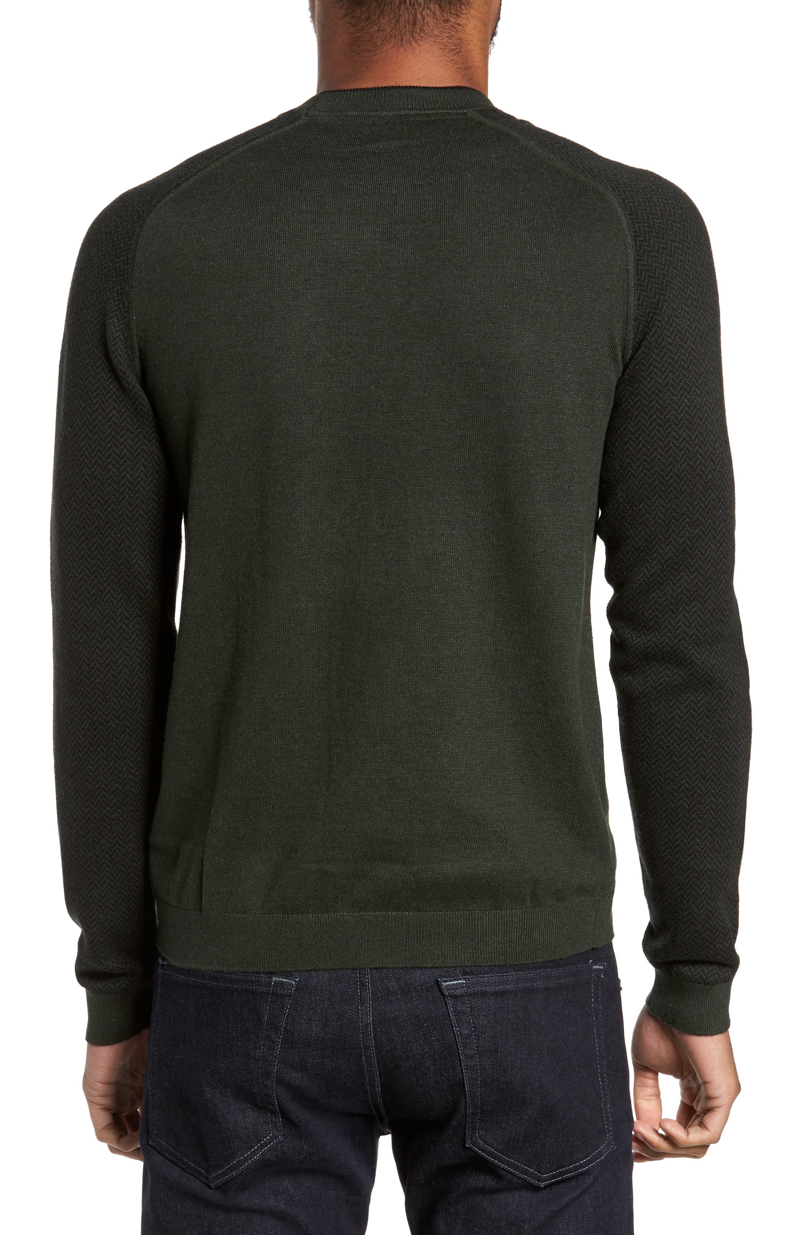 Pepmint Herringbone Sleeve Sweatshirt,                             Alternate thumbnail 2, color,                             Khaki