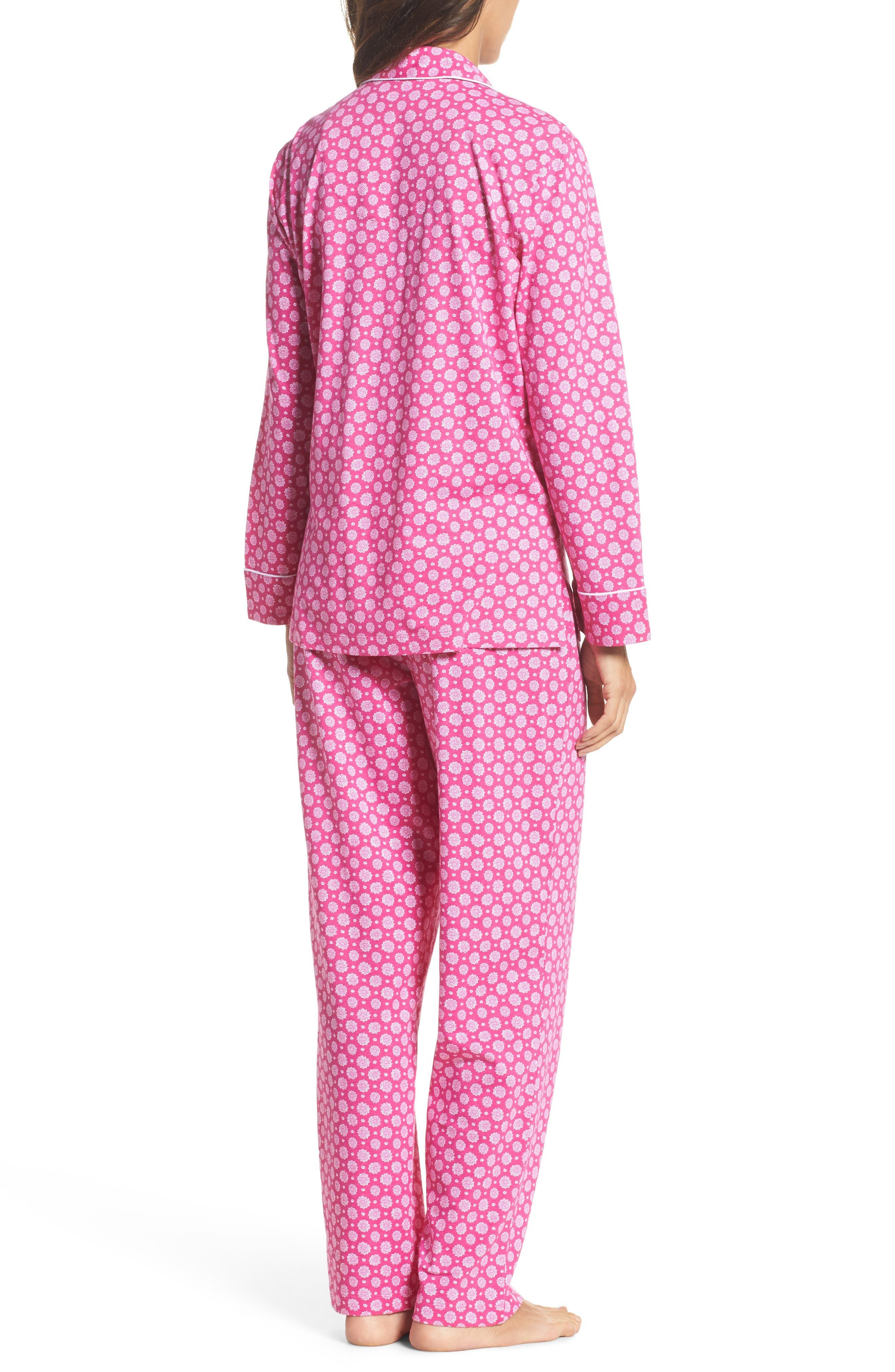 Notch Collar Pajamas,                             Alternate thumbnail 2, color,                             Pink Floral