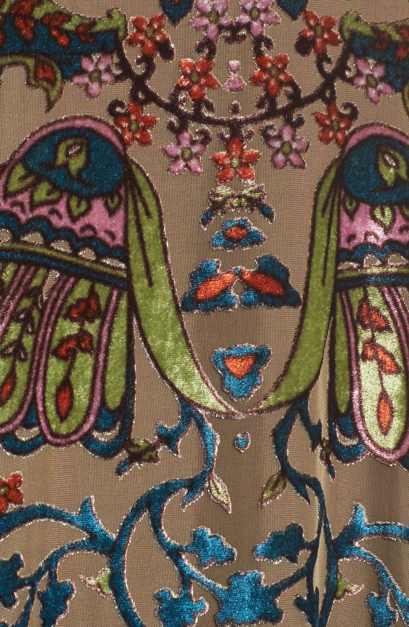 Alternate Image 5  - Mary & Mabel Burnout Velvet Dress
