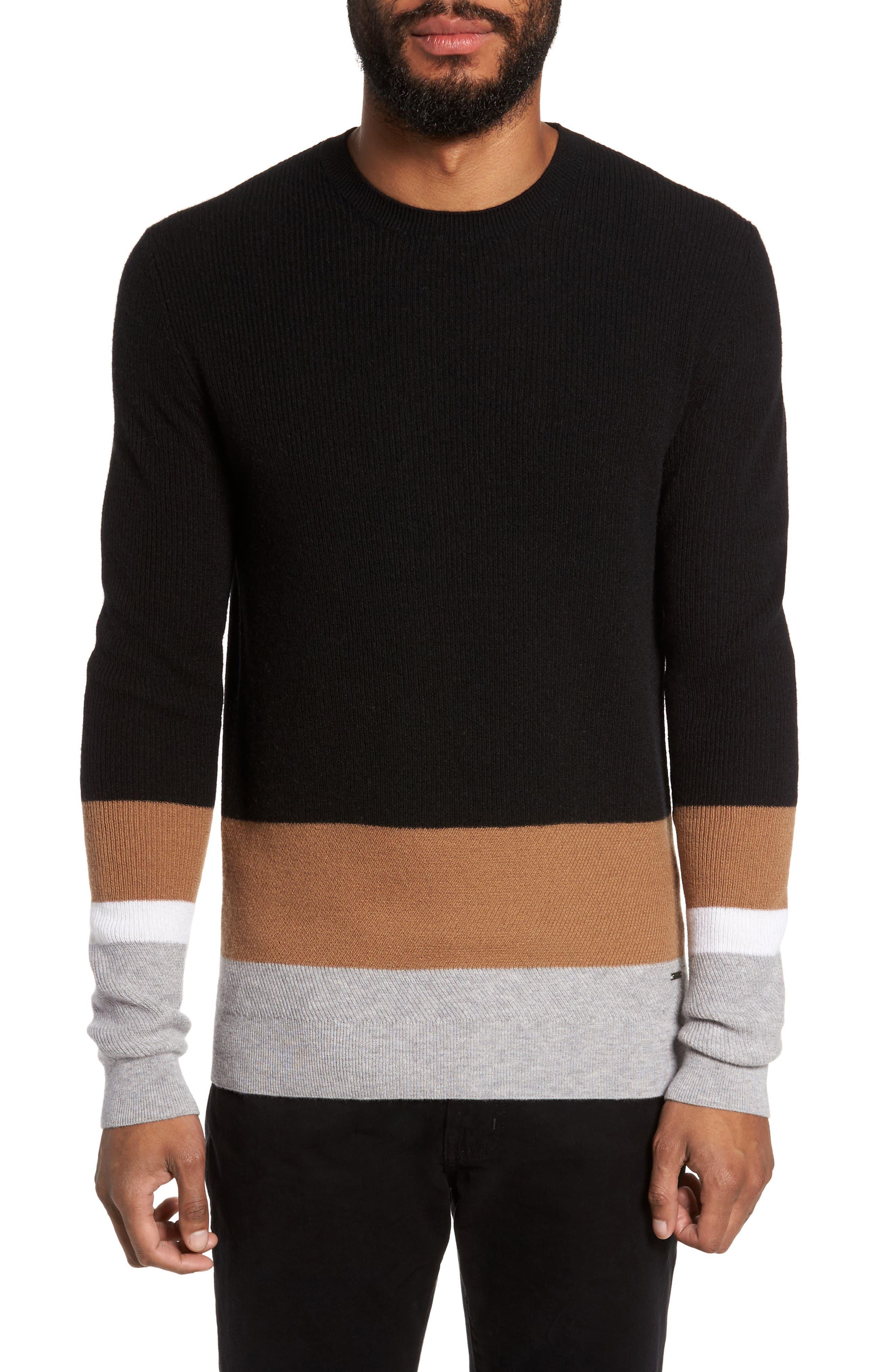 BOSS Nemon Colorblock Crewneck Sweater