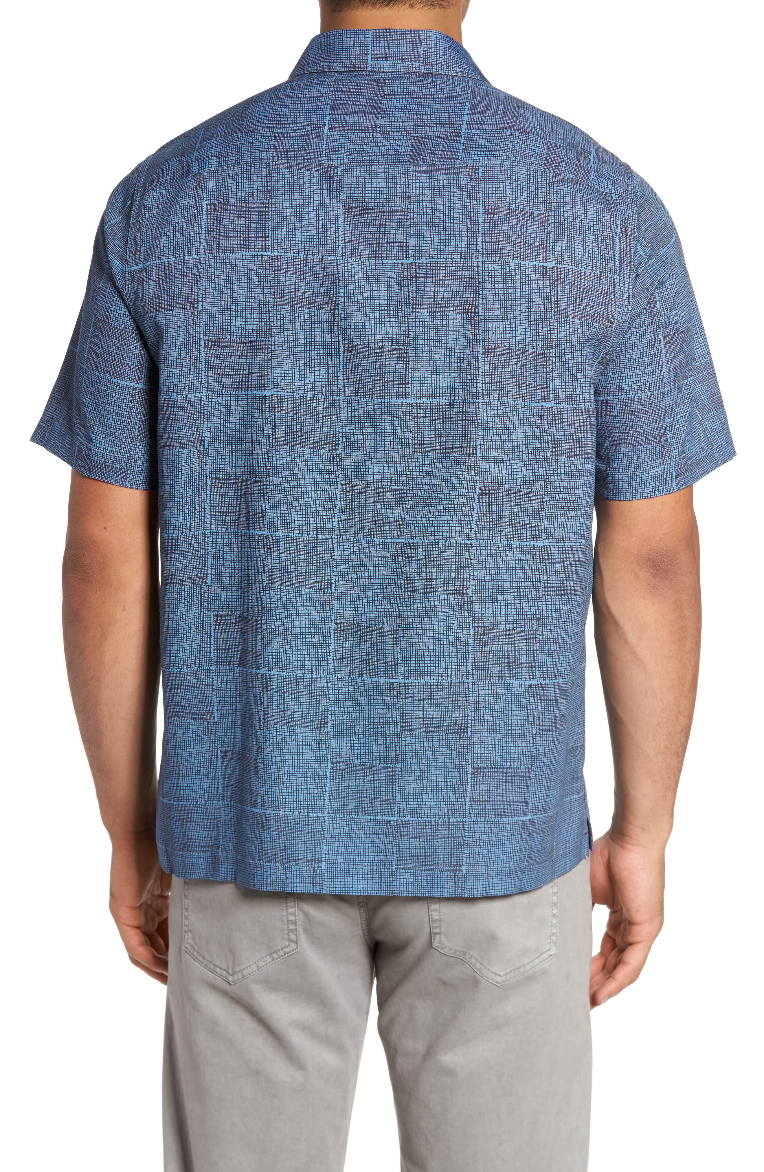 Alternate Image 2  - Nat Nast Alta Classic Fit Silk Blend Camp Shirt