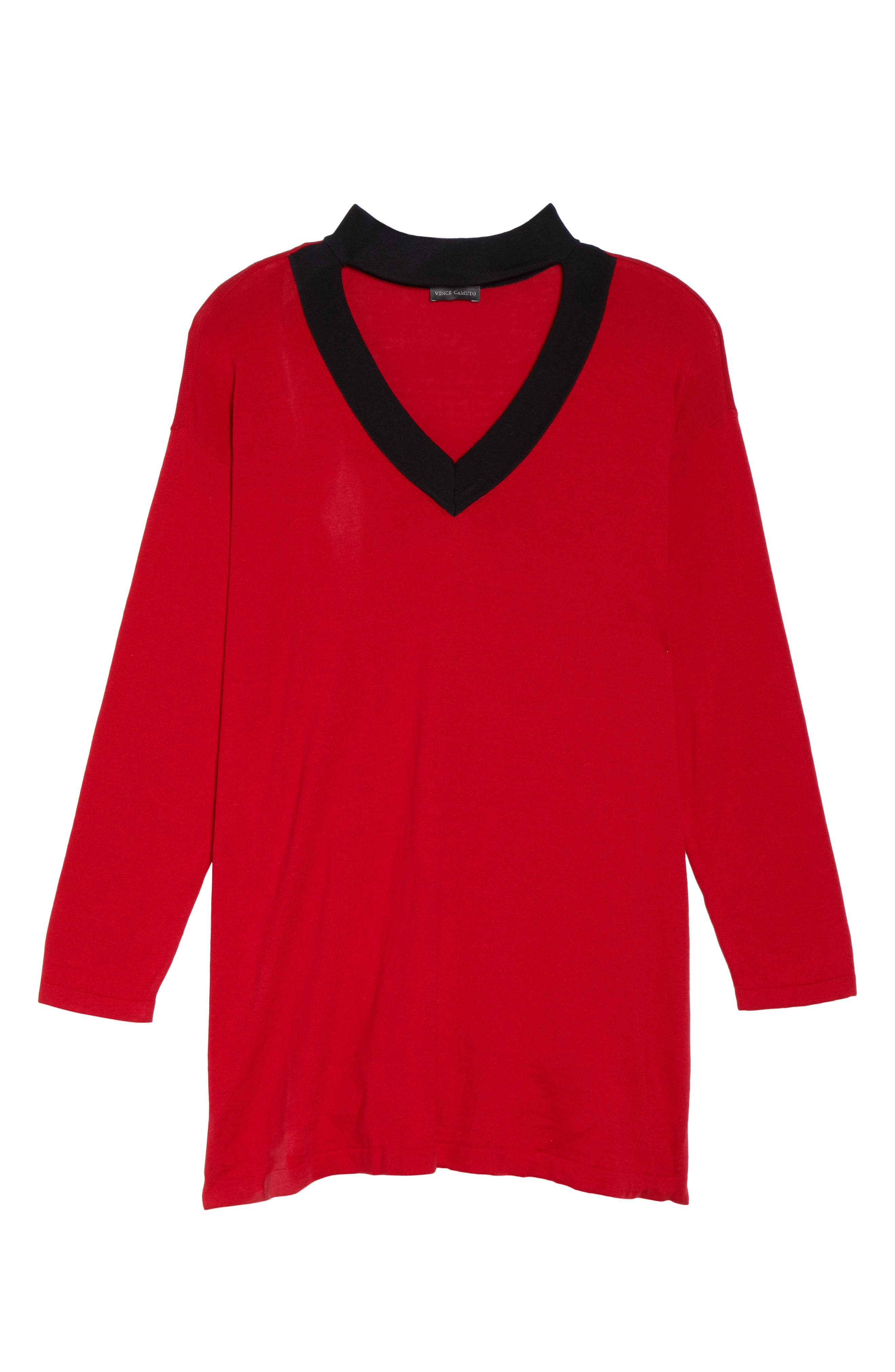 Vince Camuto Choker Neck Sweater (Plus Size)