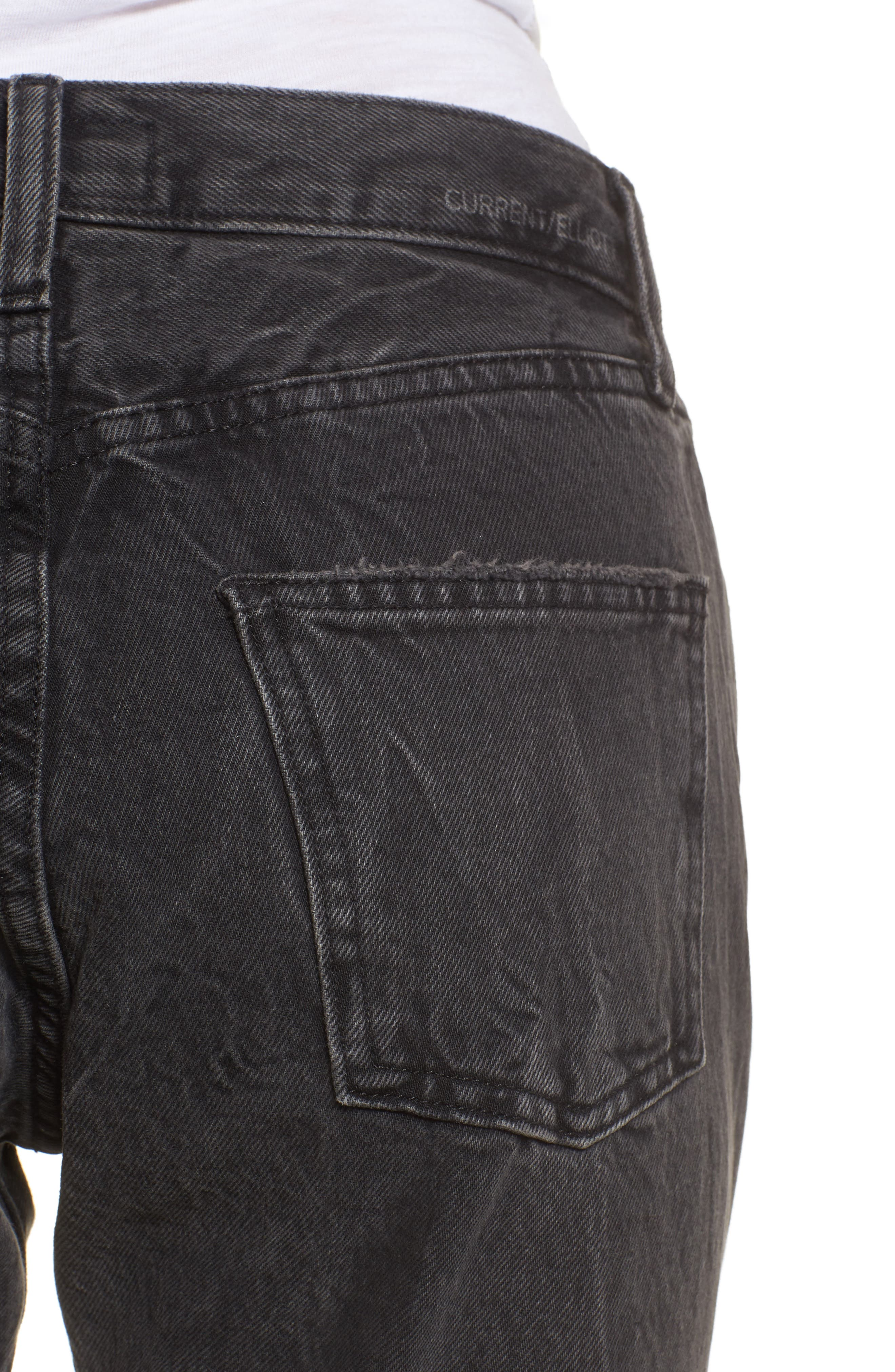 Alternate Image 4  - Current/Elliott The Original Straight Leg Crop Jeans (Valo Destroy)