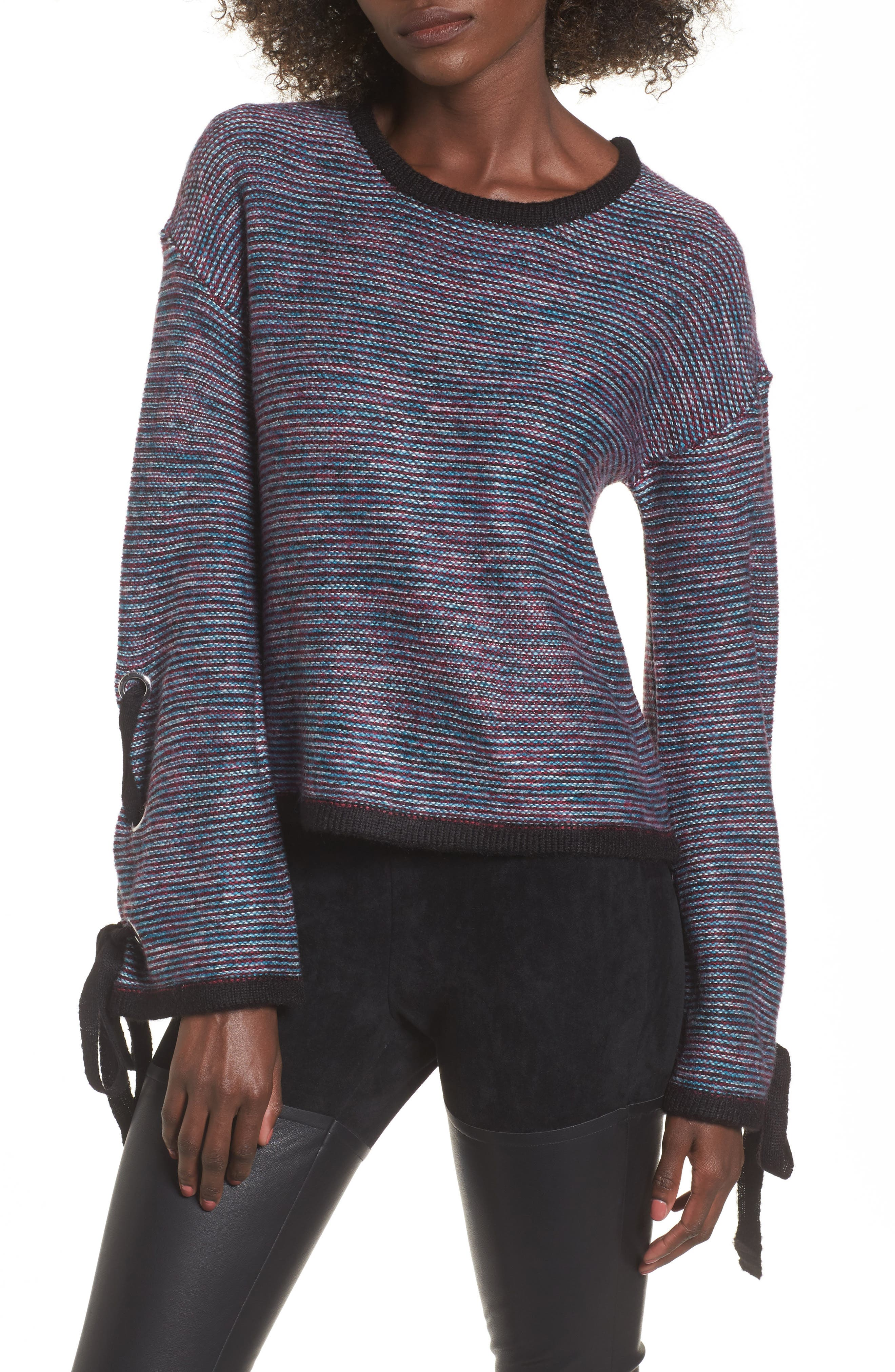 devlin Mandy Grommet Sleeve Sweater