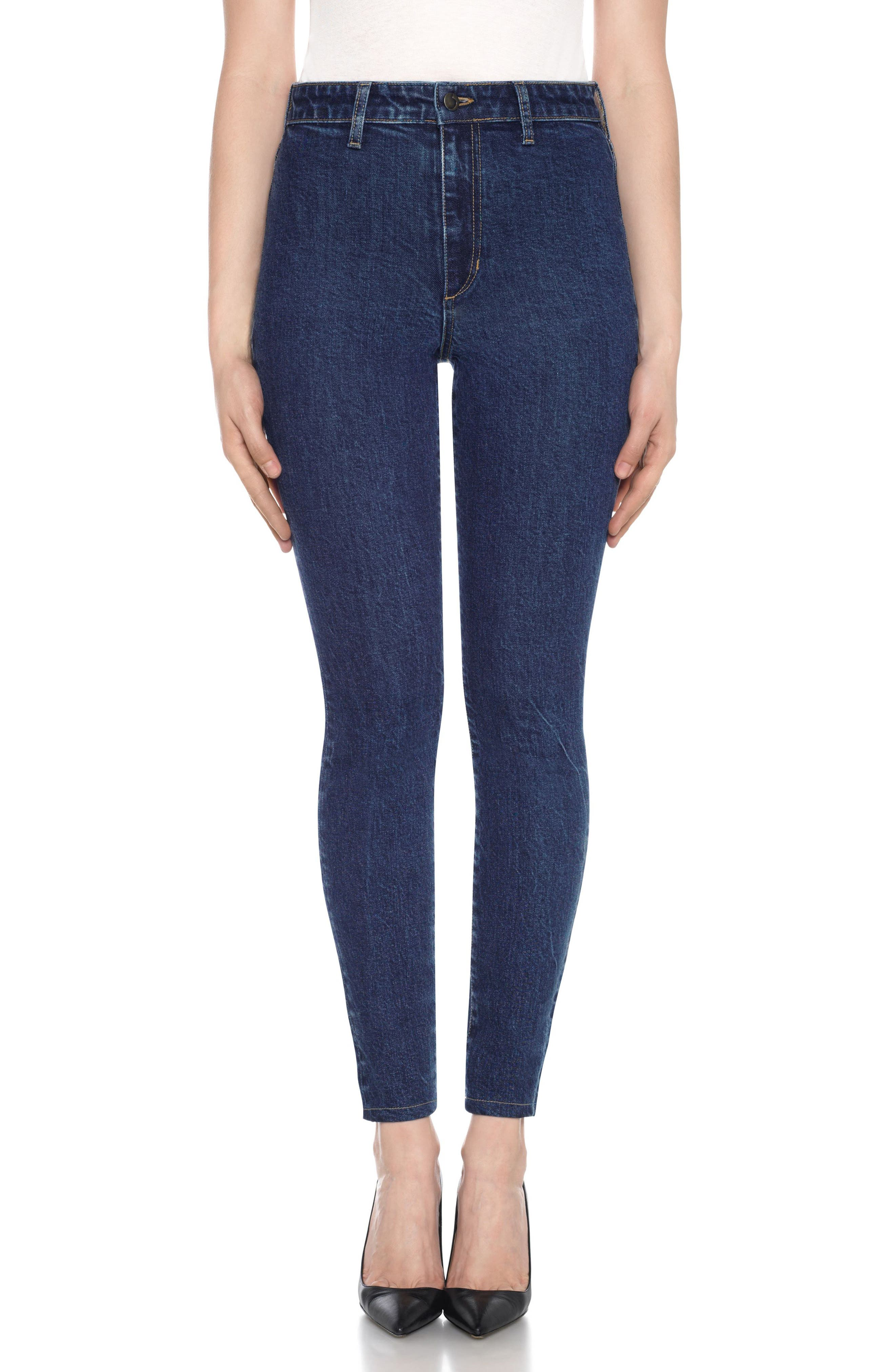Charlie High Waist Ankle Skinny Jeans,                             Main thumbnail 1, color,                             Sheela