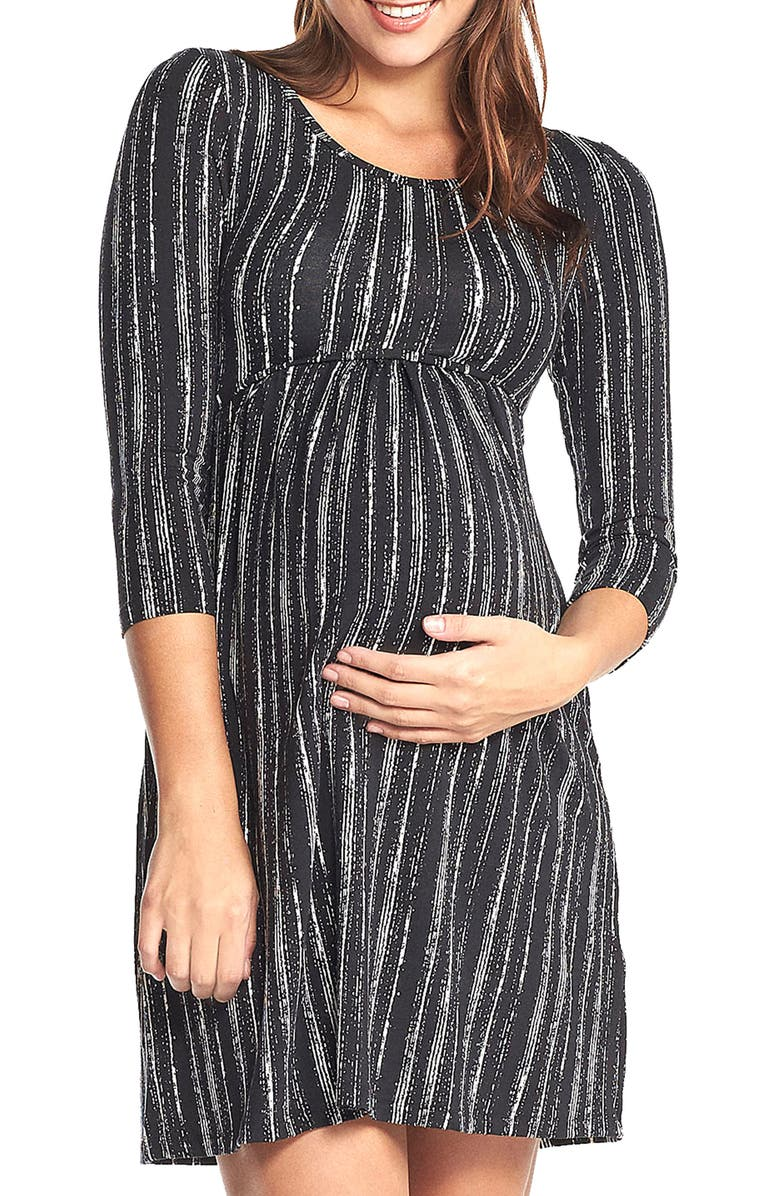 Mathilde Elbow Sleeve Maternity Dress