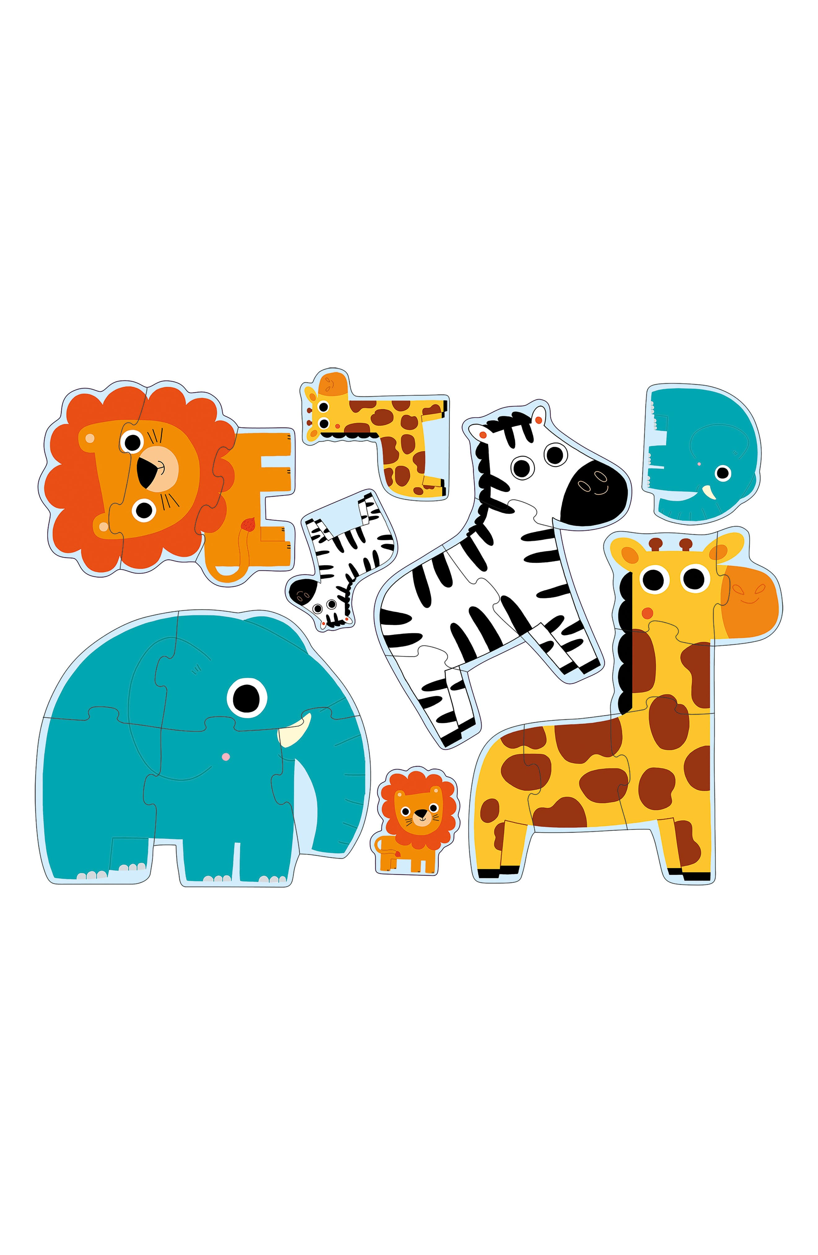 Alternate Image 2  - Djeco Primo Puzzle In the Jungle Set of Four Puzzles
