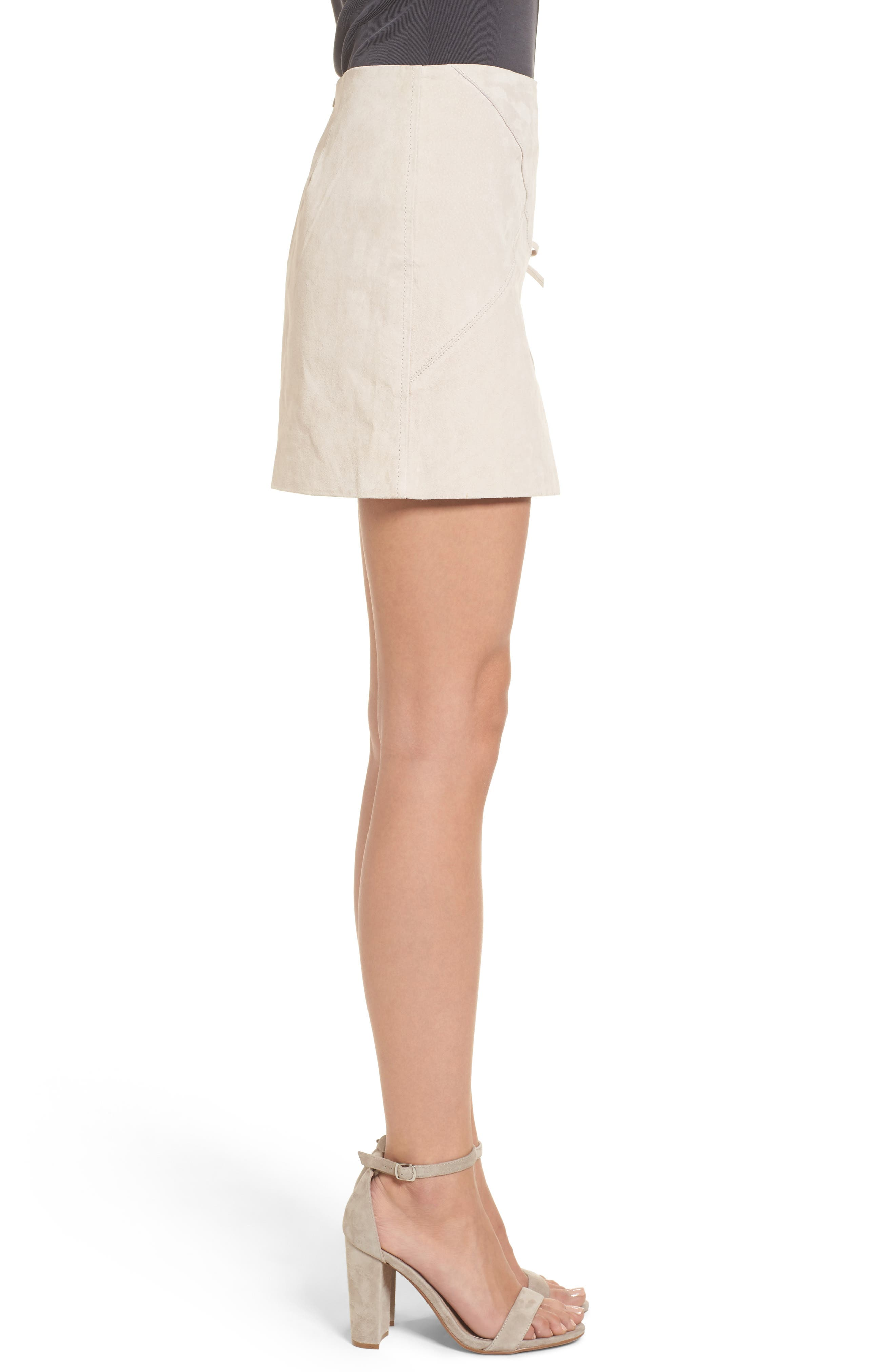 Alternate Image 3  - BLANKNYC Lace-Up Suede Miniskirt
