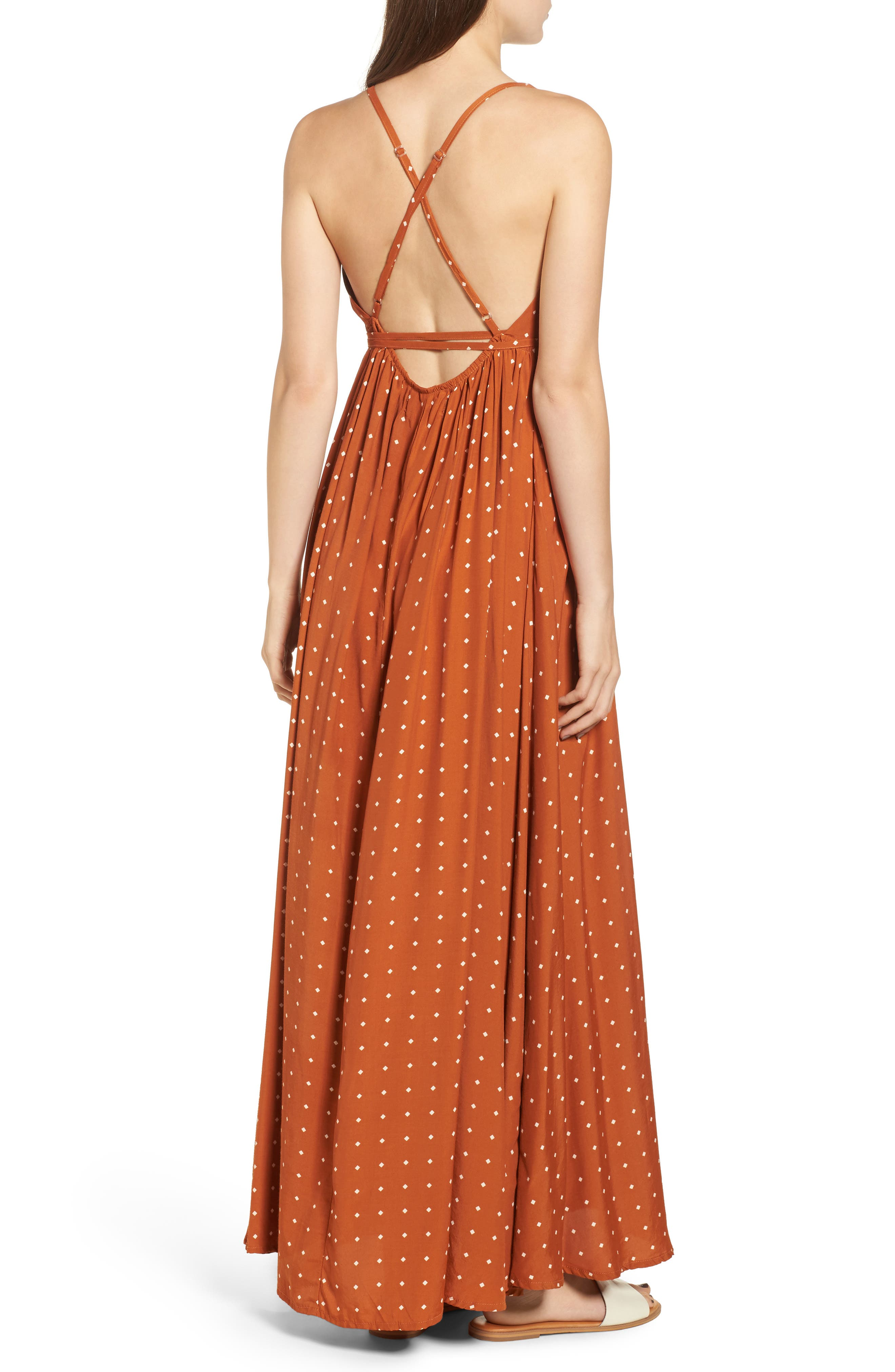 Santa Rosa Maxi Dress,                             Alternate thumbnail 2, color,                             Stefano Print - Ginger