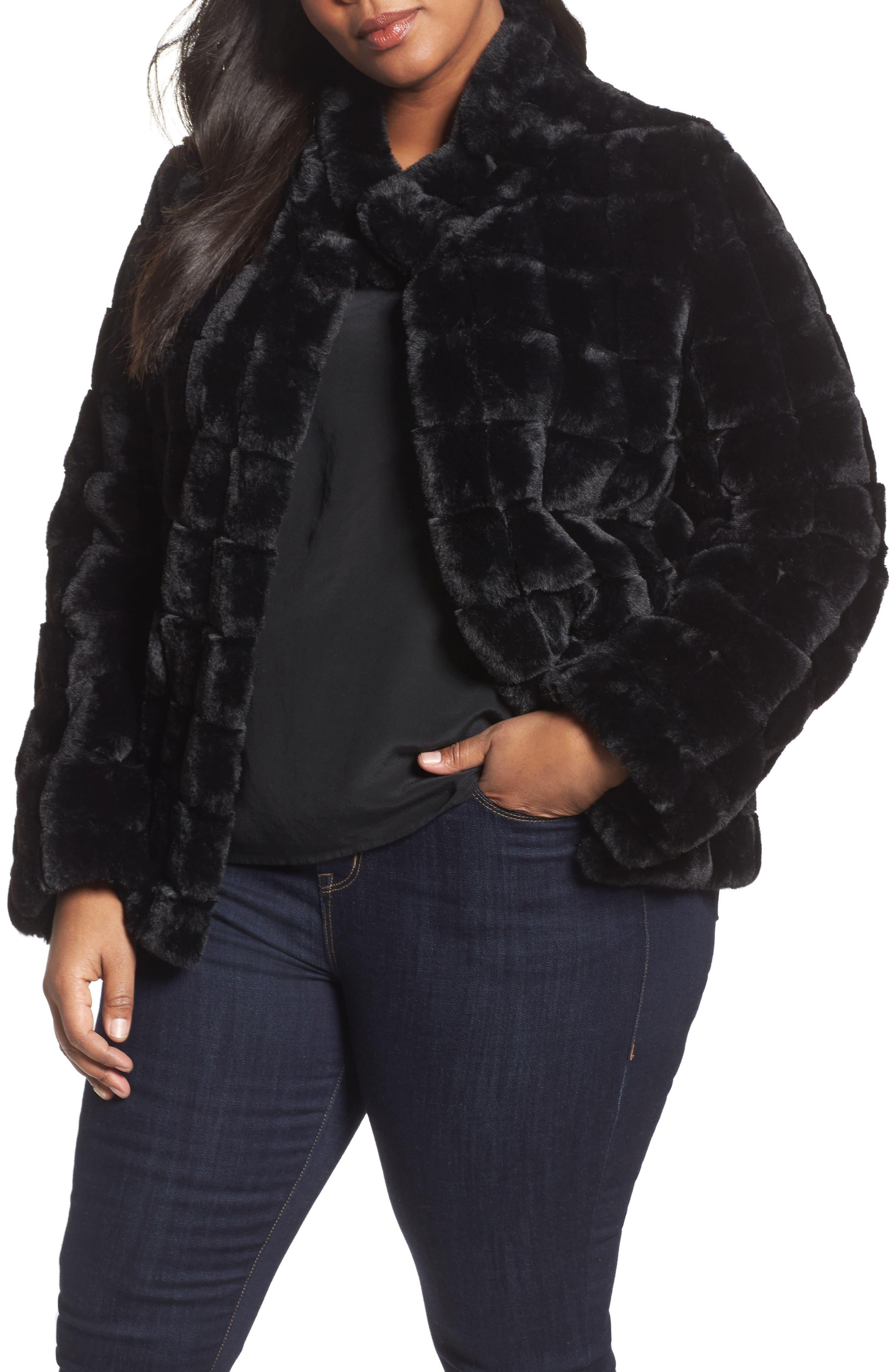 Kristen Blake Faux Fur Jacket (Plus Size)