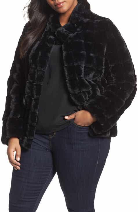 22e5cc1fc2a Kristen Blake Faux Fur Jacket (Plus Size)
