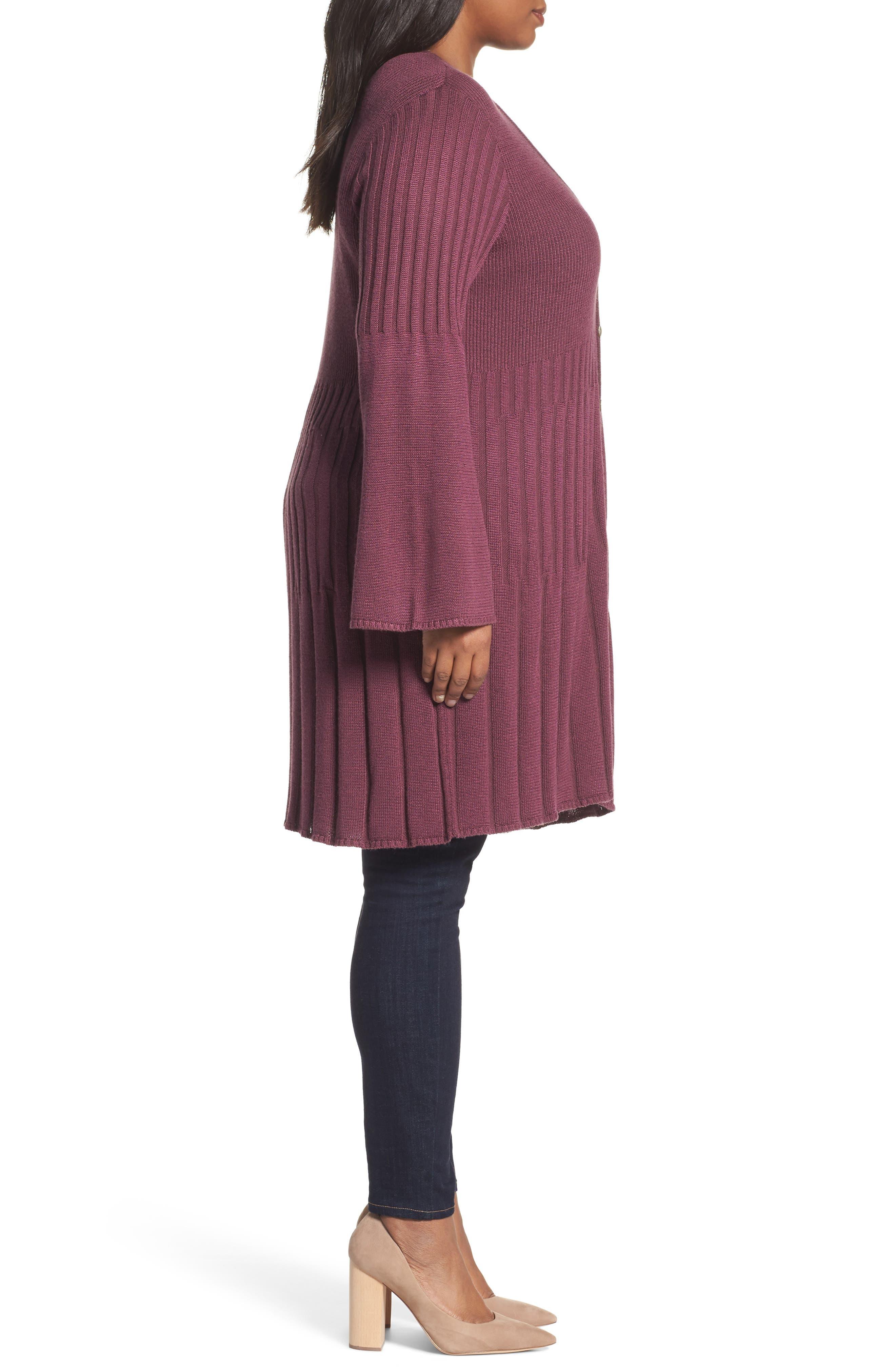 Alternate Image 3  - Foxcroft Selena Rib Cardigan (Plus Size)