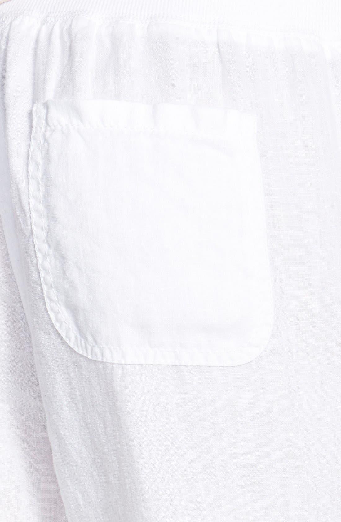 Linen Track Pants,                             Alternate thumbnail 3, color,                             White