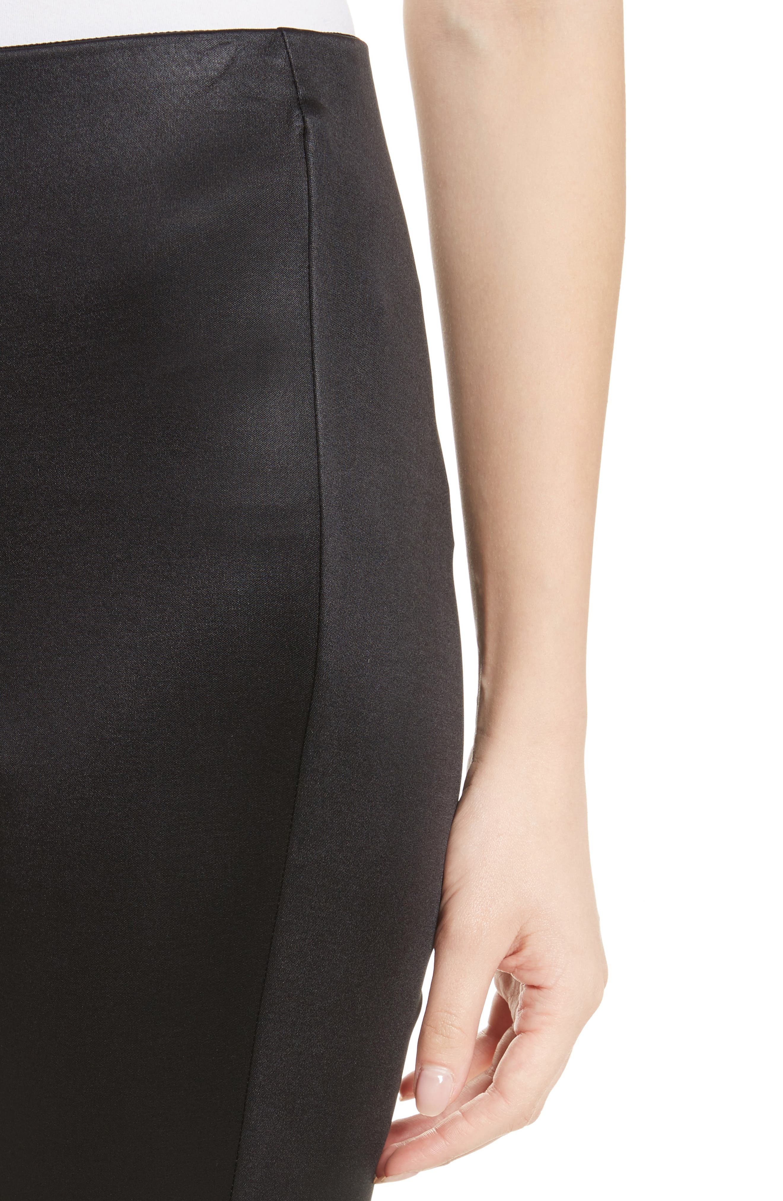 Simone Sateen Pants,                             Alternate thumbnail 4, color,                             Black