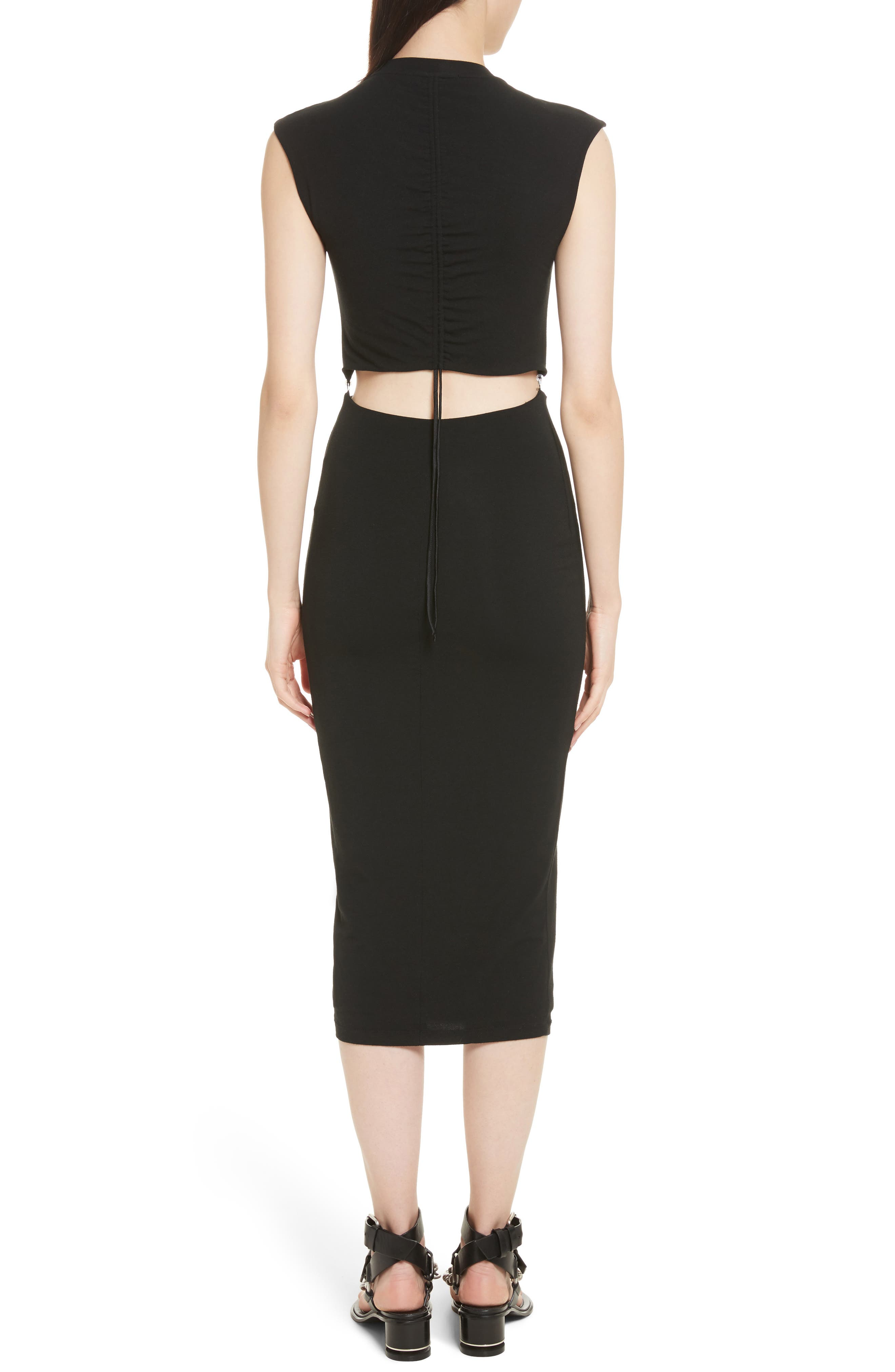 Alternate Image 2  - T by Alexander Wang Cutout Stretch Jersey Dress