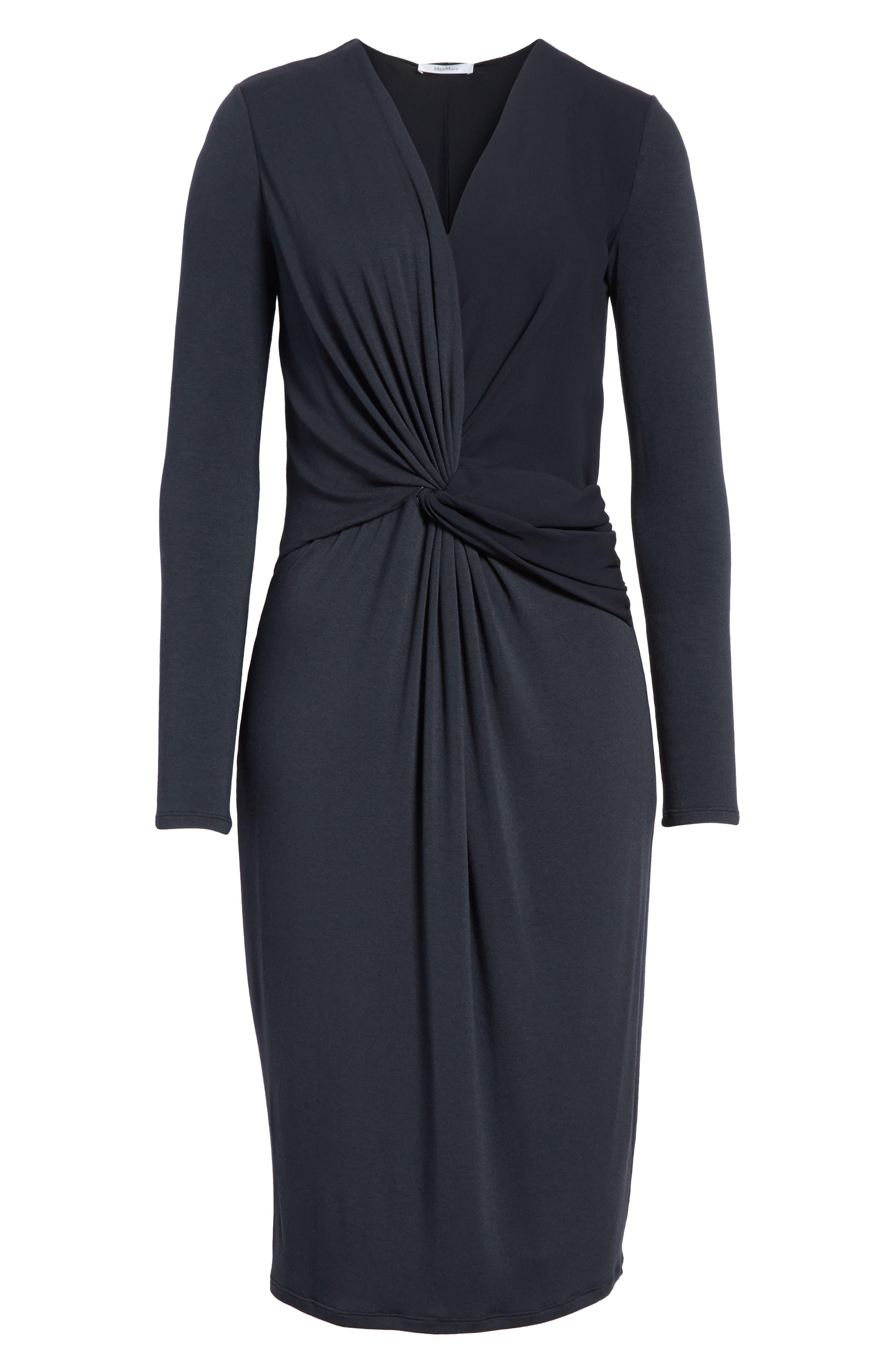 Petalo Twisted Dress,                             Alternate thumbnail 6, color,                             Navy Blue