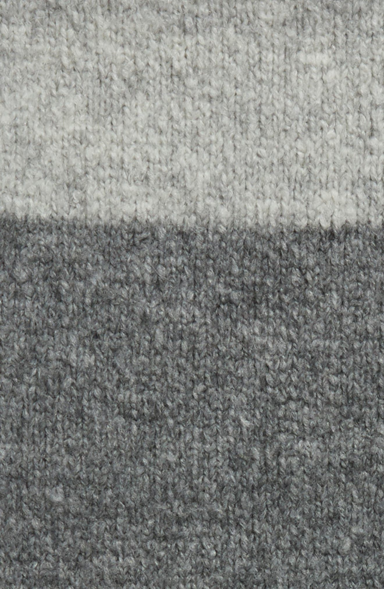 Lofty Tricolor Infinity Scarf,                             Alternate thumbnail 3, color,                             Light Grey M