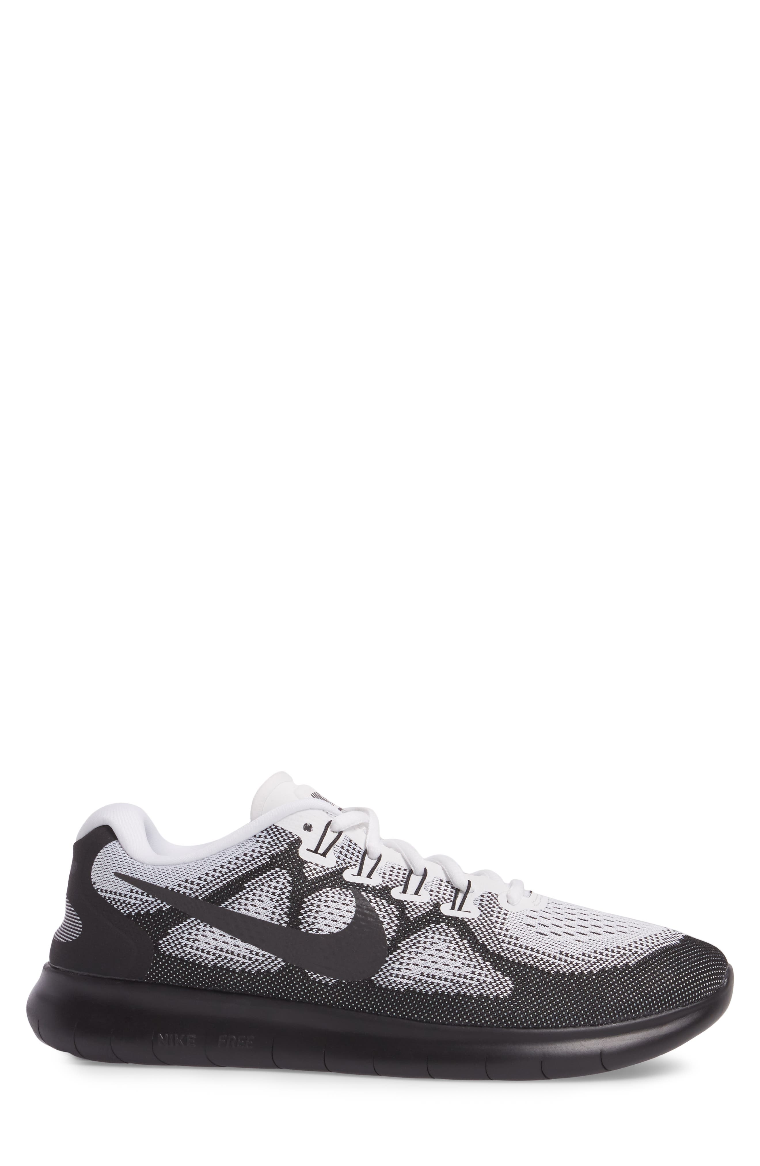 Free RN 2017 LE Running Shoe,                             Alternate thumbnail 3, color,                             Black/Black/White
