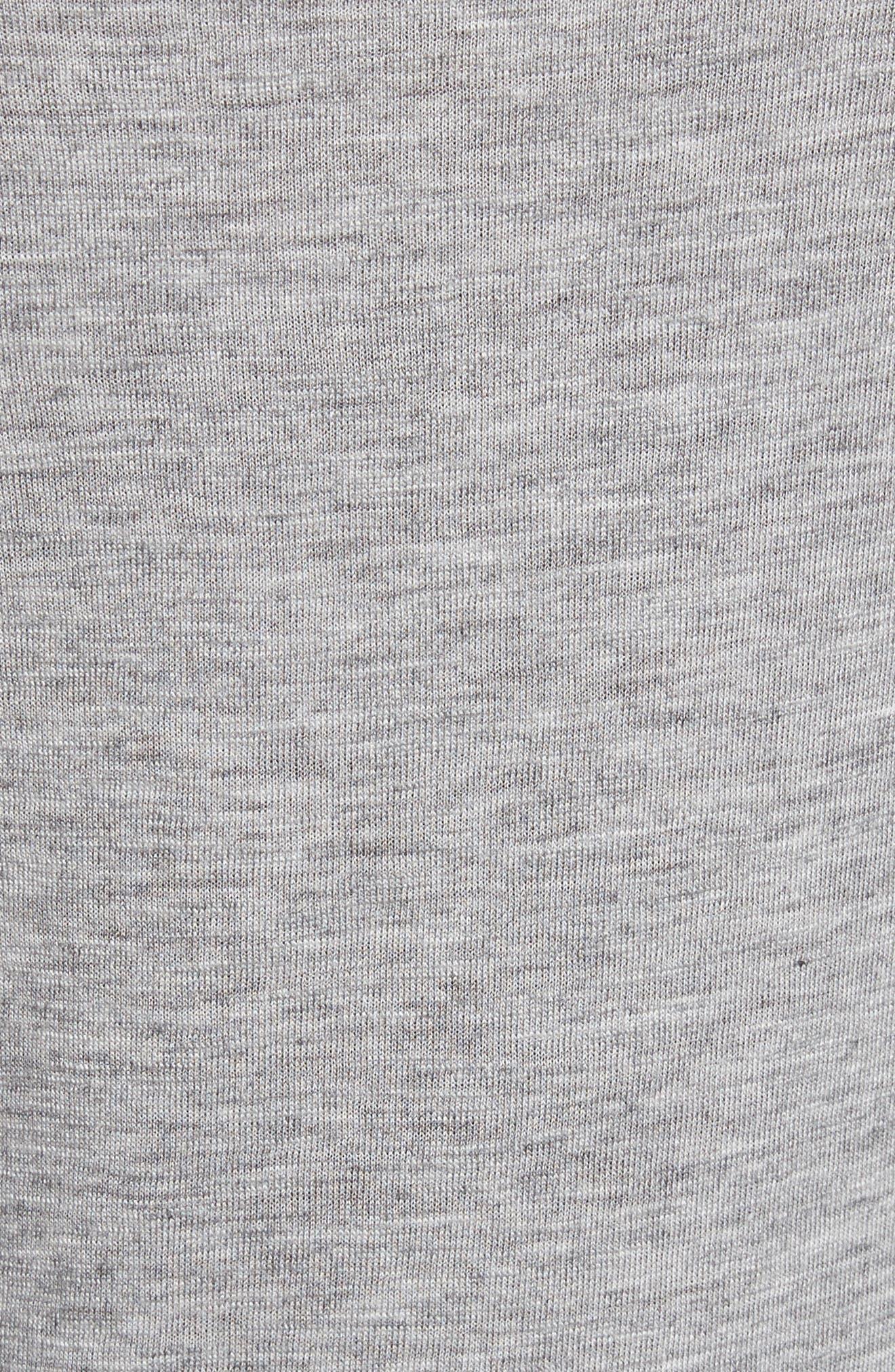 Ruffled Jersey Top,                             Alternate thumbnail 5, color,                             Grey Melange